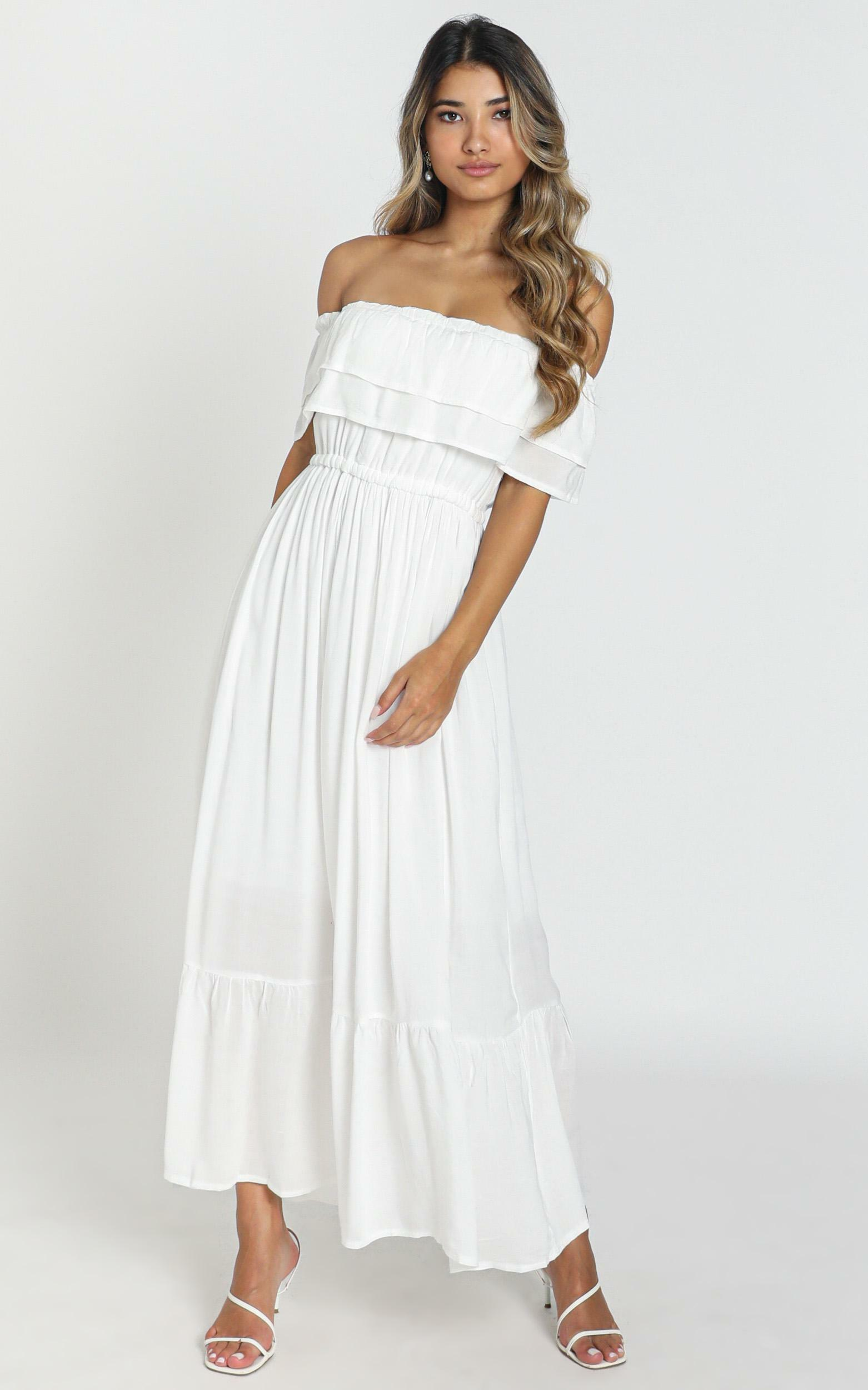 Notre Dame maxi dress in white - 8 (S), White, hi-res image number null