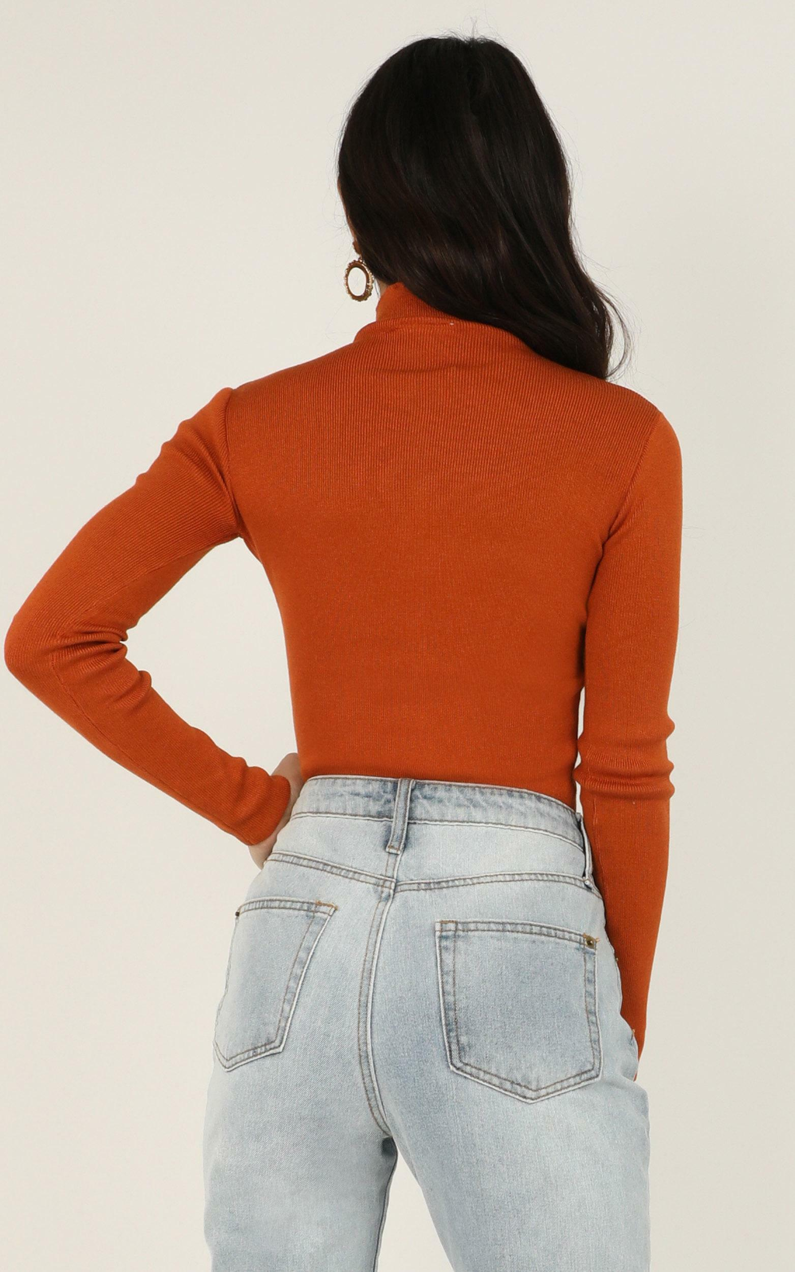Lust For Life Knit Top In rust - 6 (XS), Rust, hi-res image number null