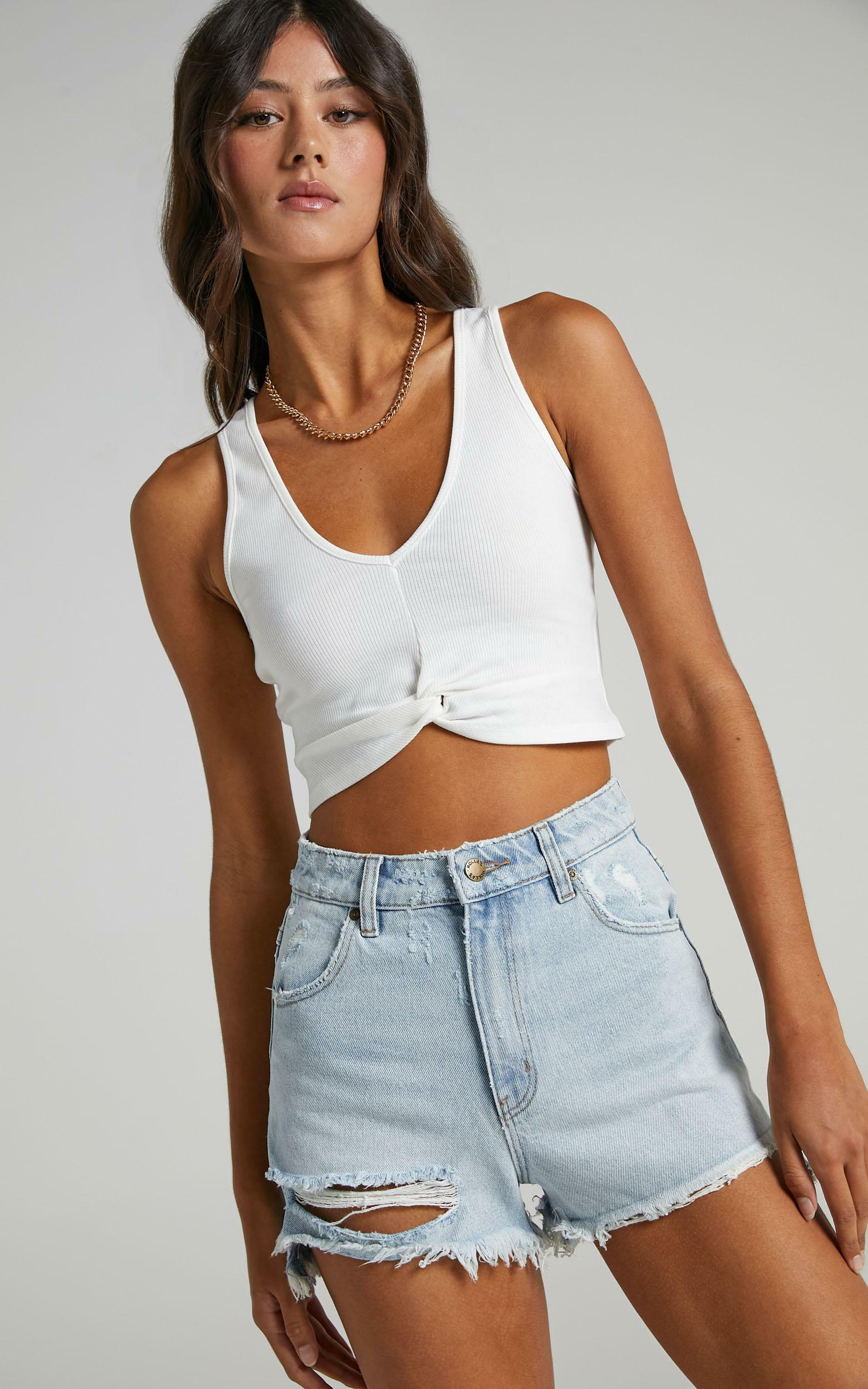 Ebony Top in White - 20 (XXXXL), White, hi-res image number null