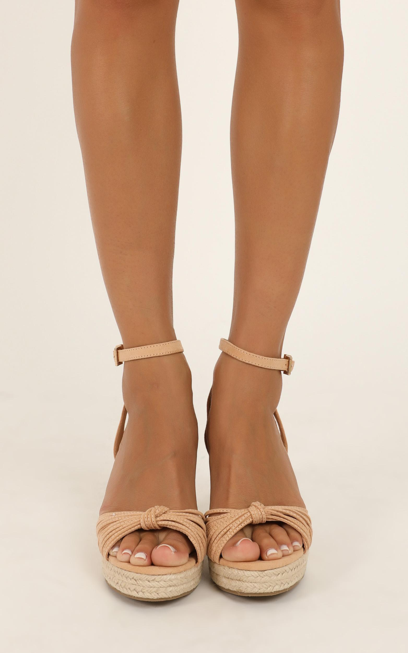 Verali - Amy wedges in nude micro - 10, Beige, hi-res image number null