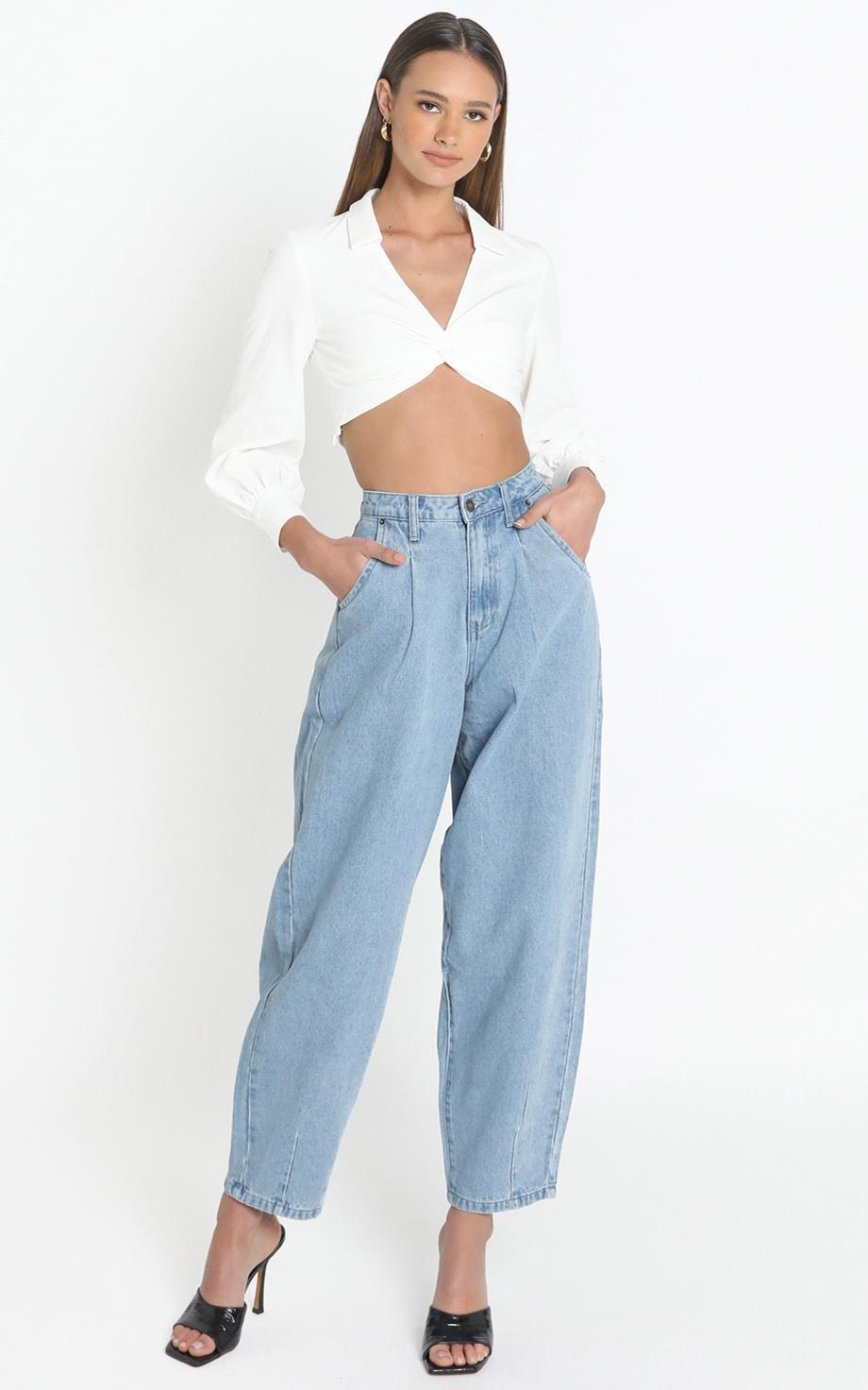 Lioness - On My Way Jeans in Denim - 12 (L), Blue, hi-res image number null