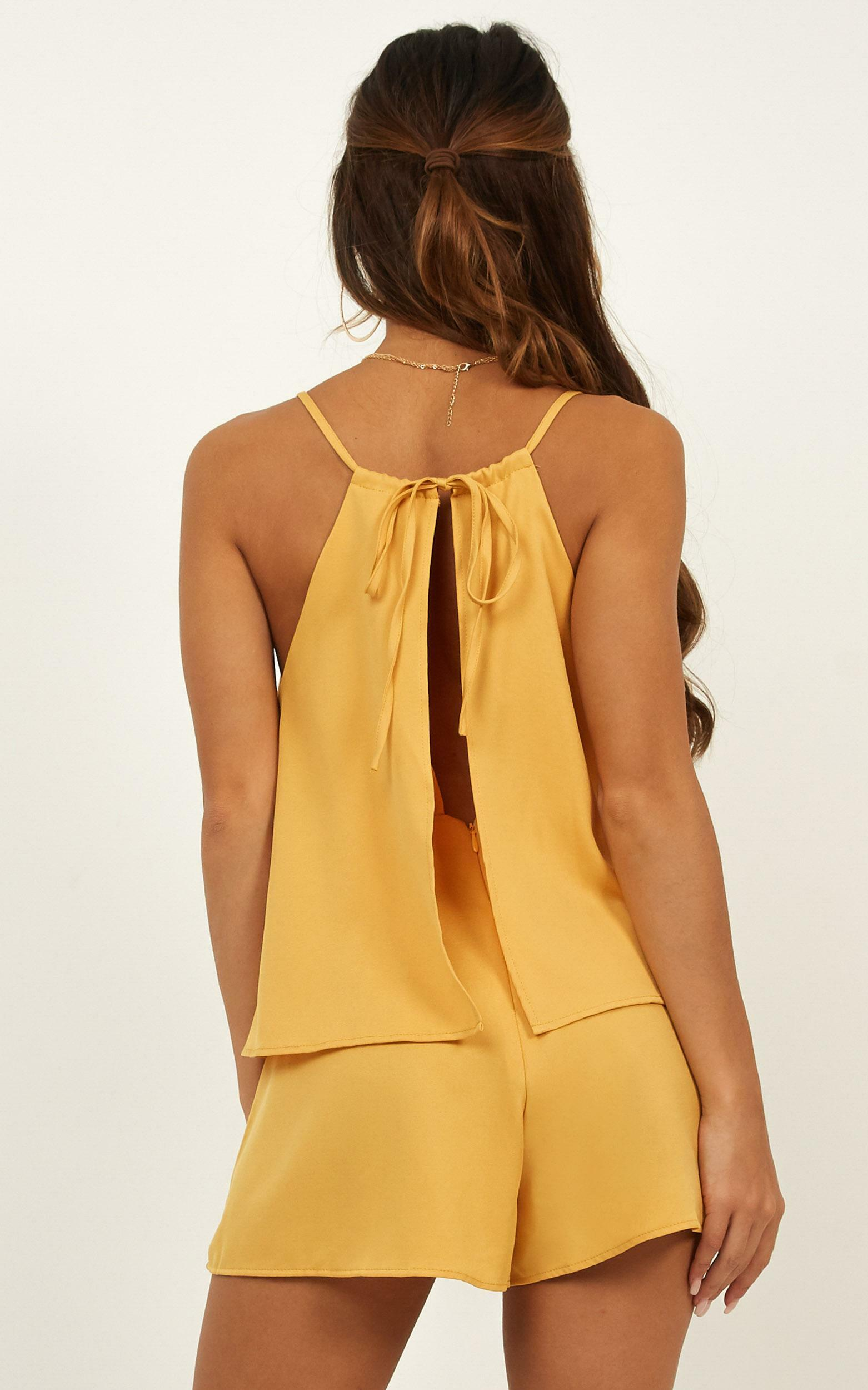 Midway Playsuit in mustard - 20 (XXXXL), Mustard, hi-res image number null