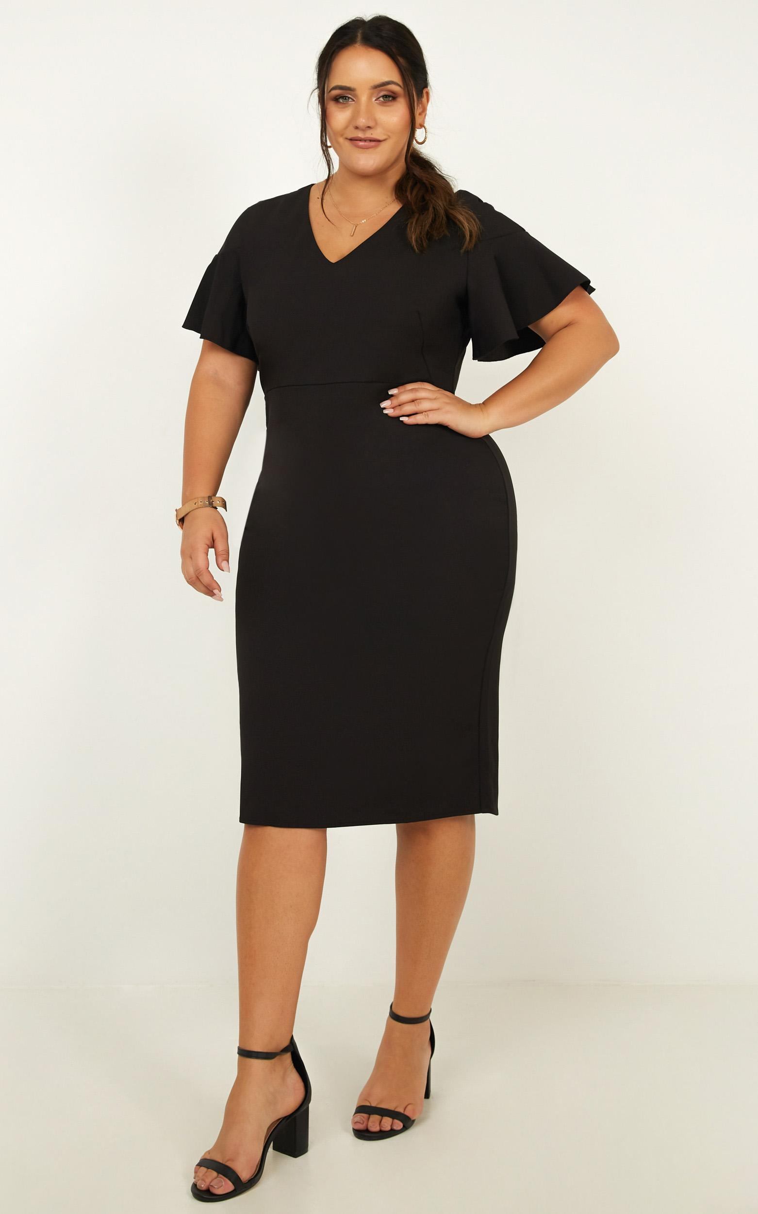 Proof read Dress in black - 20 (XXXXL), Black, hi-res image number null