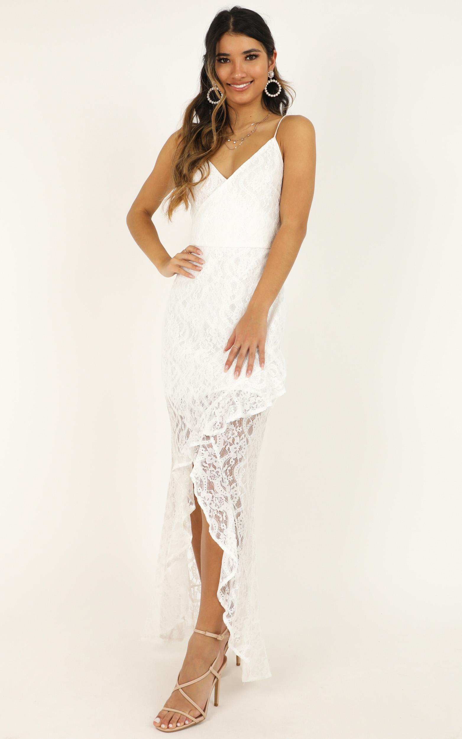 Passionate From Afar Dress in white lace - 18 (XXXL), White, hi-res image number null