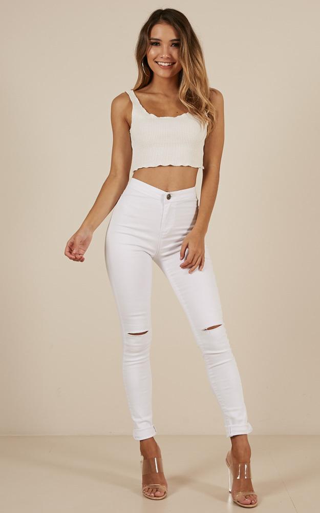 Bella Skinny jeans in white denim - 6 (XS), WHT1, hi-res image number null