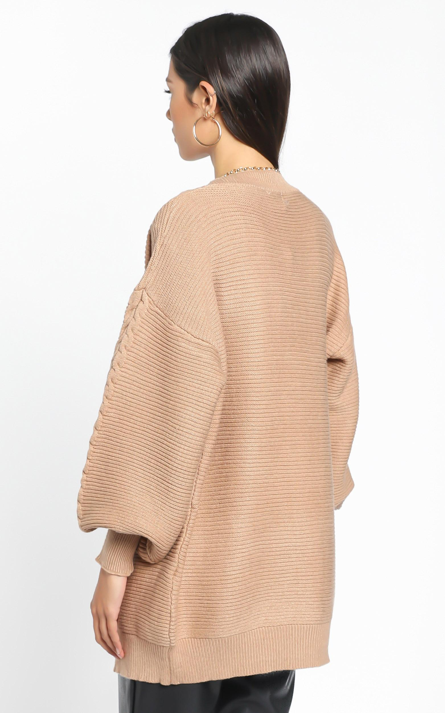 Hayes Knit in  Tan - M/L, Tan, hi-res image number null