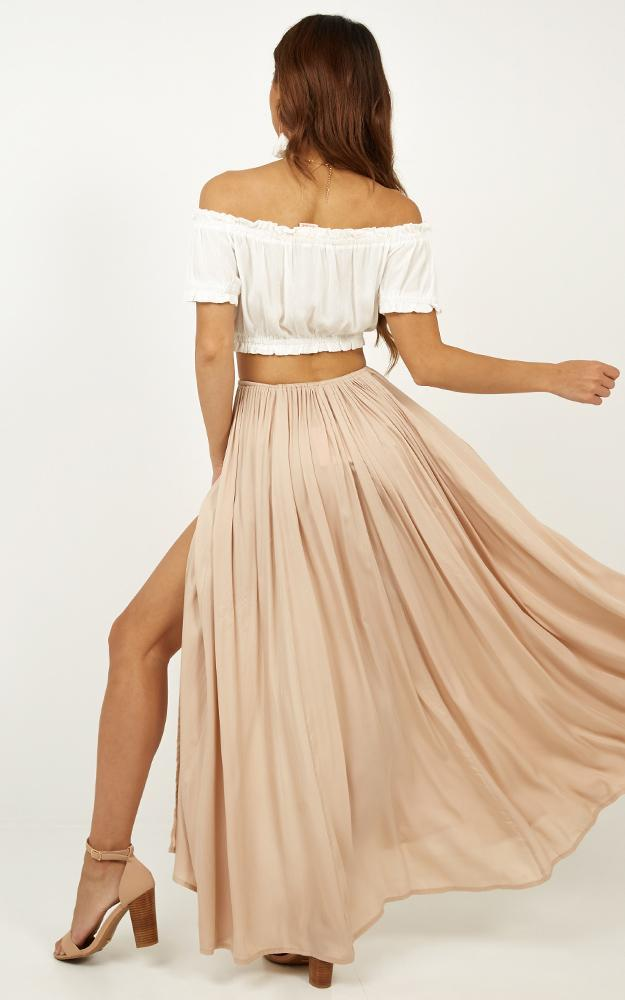 Under The Twilight maxi skirt in beige - 6 (XS), Beige, hi-res image number null