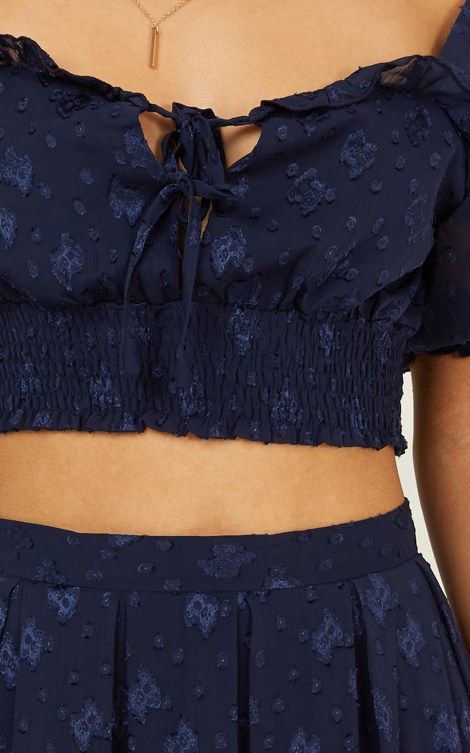 Pacific Drive two piece set in navy - 12 (L), Navy, hi-res image number null