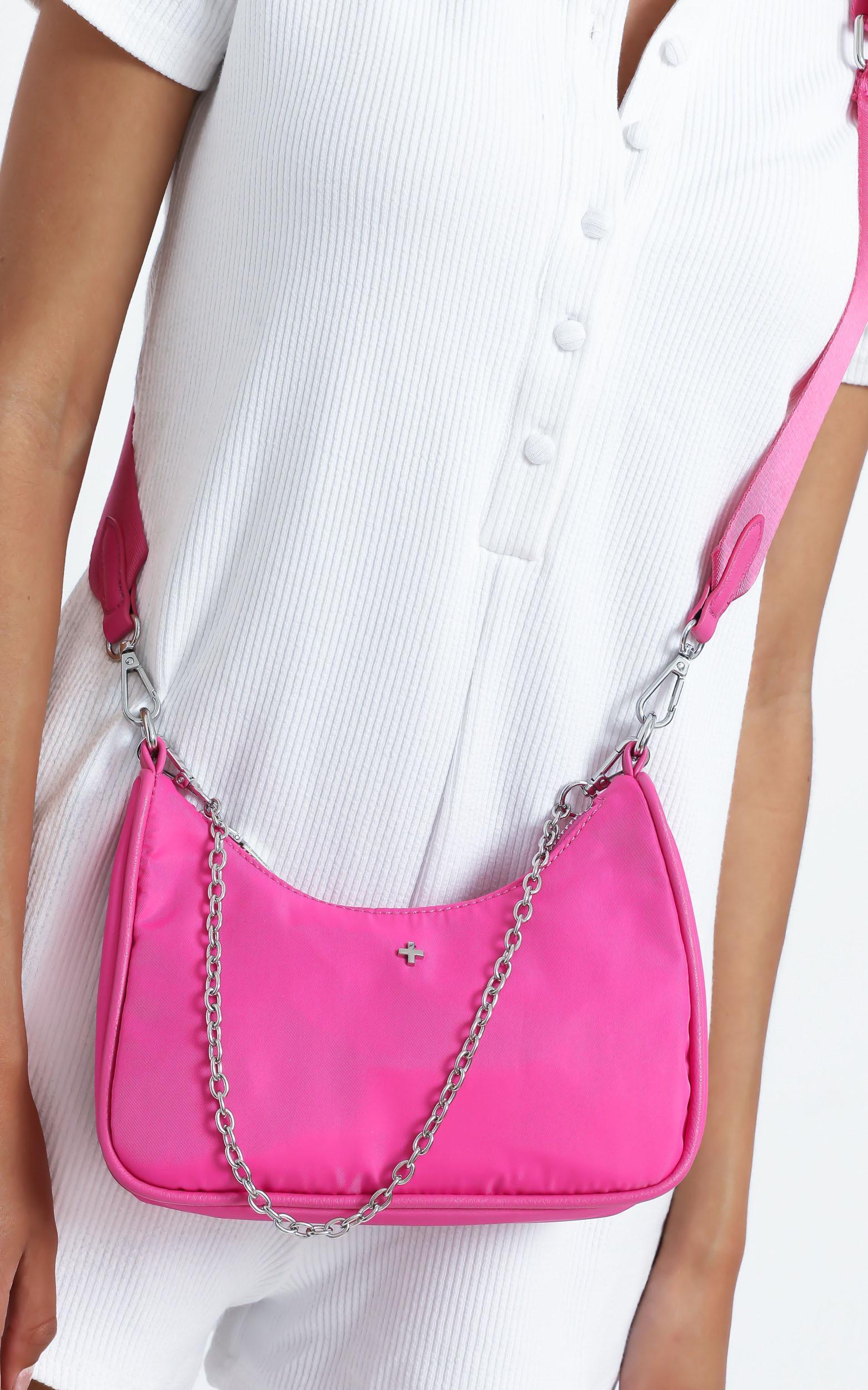 Peta and Jain - Paloma Bag in Hot Pink Nylon, PNK1, hi-res image number null