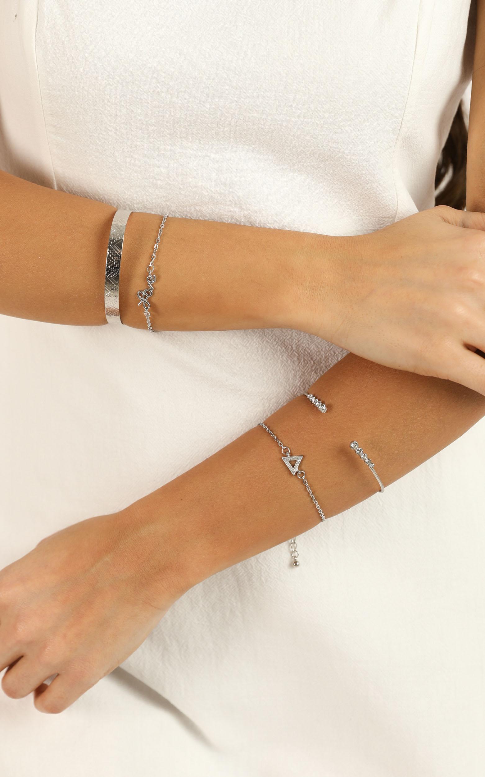 Once Again Bracelet Set In Silver, , hi-res image number null