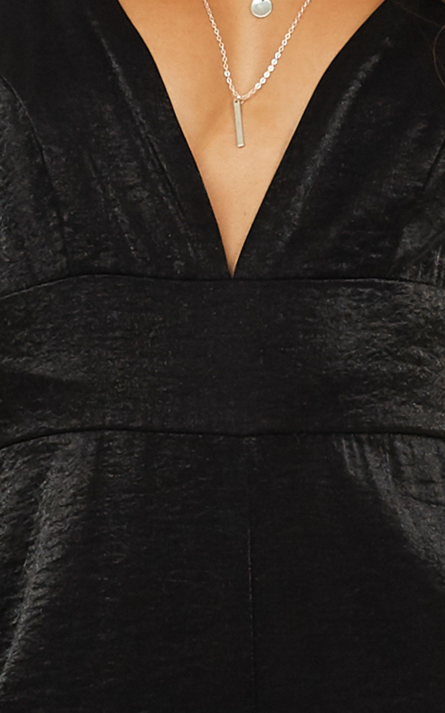 Missin You Jumpsuit in black satin, Black, hi-res image number null