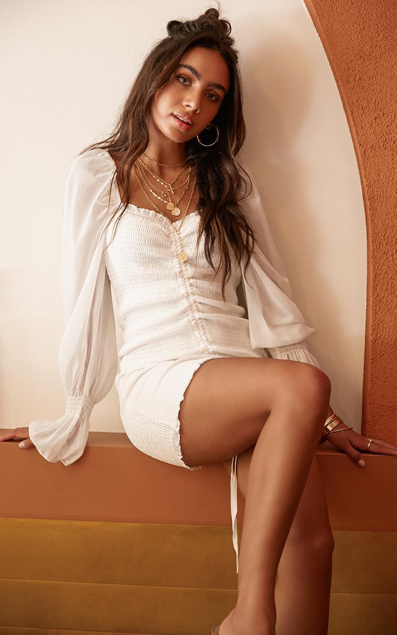 Propoganda dress in white - 16 (XXL), White, hi-res image number null