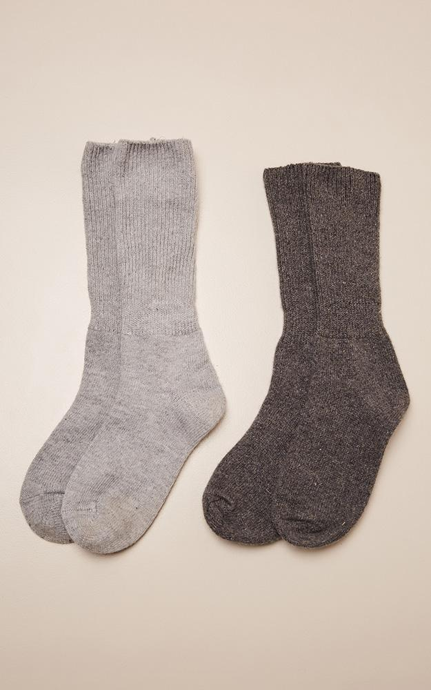 Caught Feels socks 2 pack in grey and charcoal, Charcoal, hi-res image number null
