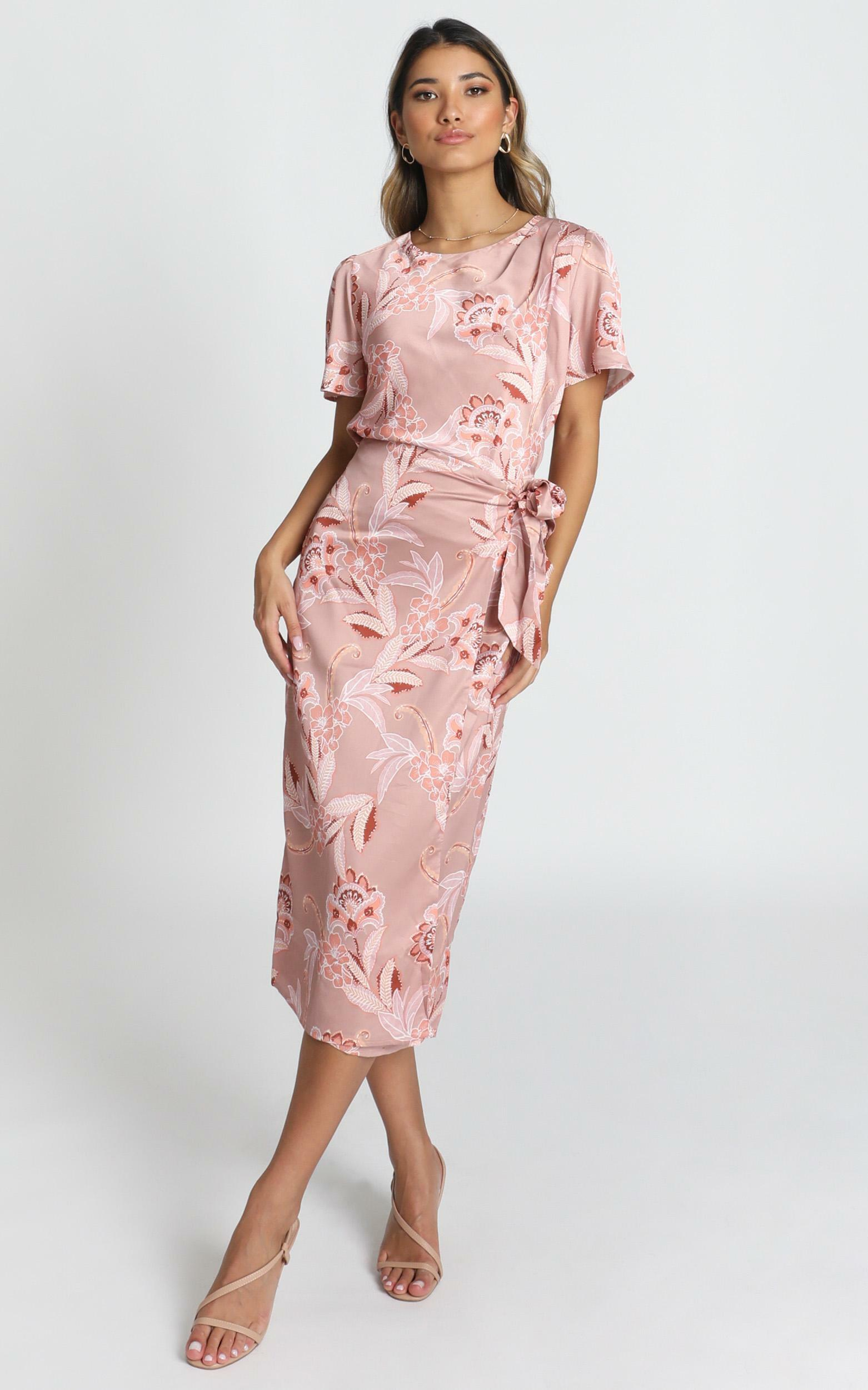 Board Meeting Skirt in rose paisley - 14 (XL), Pink, hi-res image number null