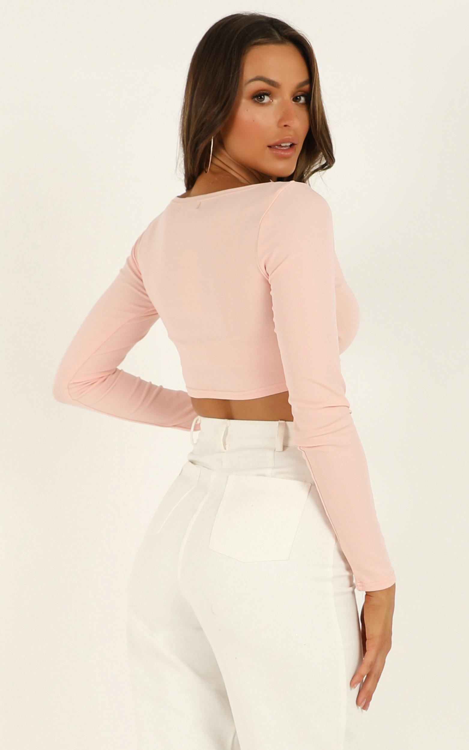Nude Chic top in blush - 12 (L), Blush, hi-res image number null