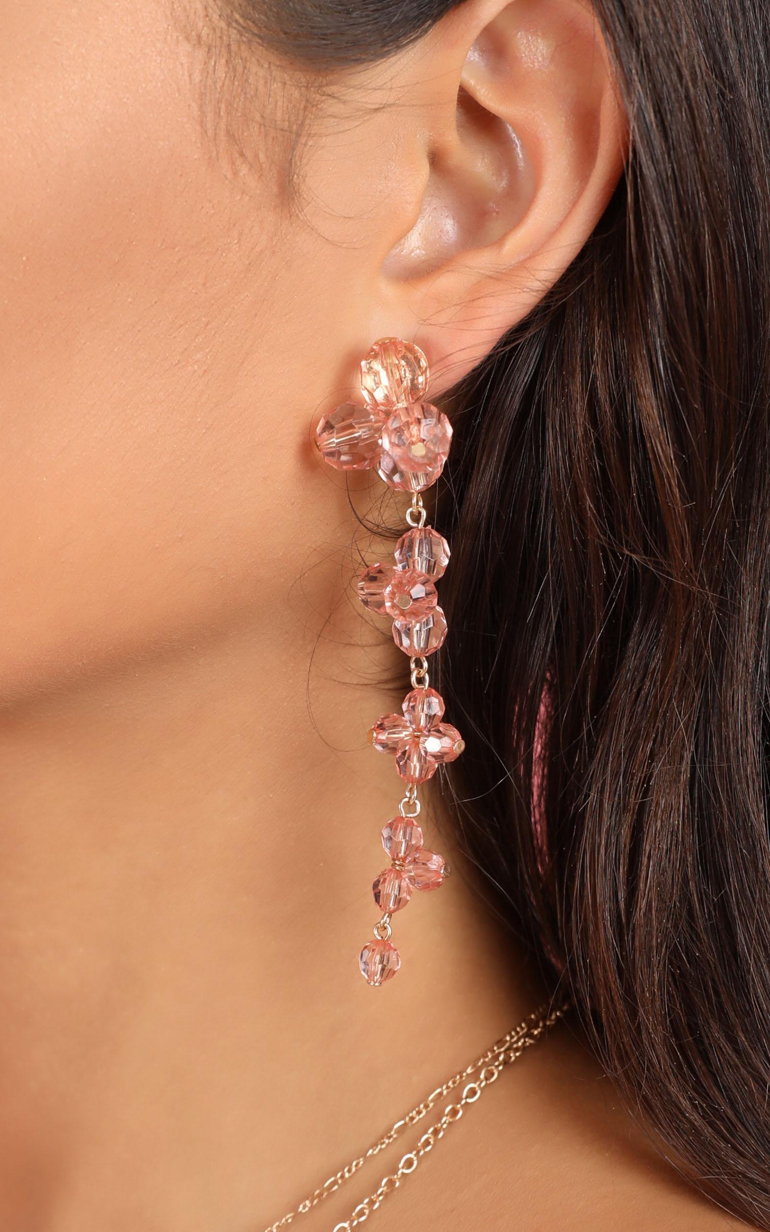Coming Unstuck Earrings In Pink, , hi-res image number null