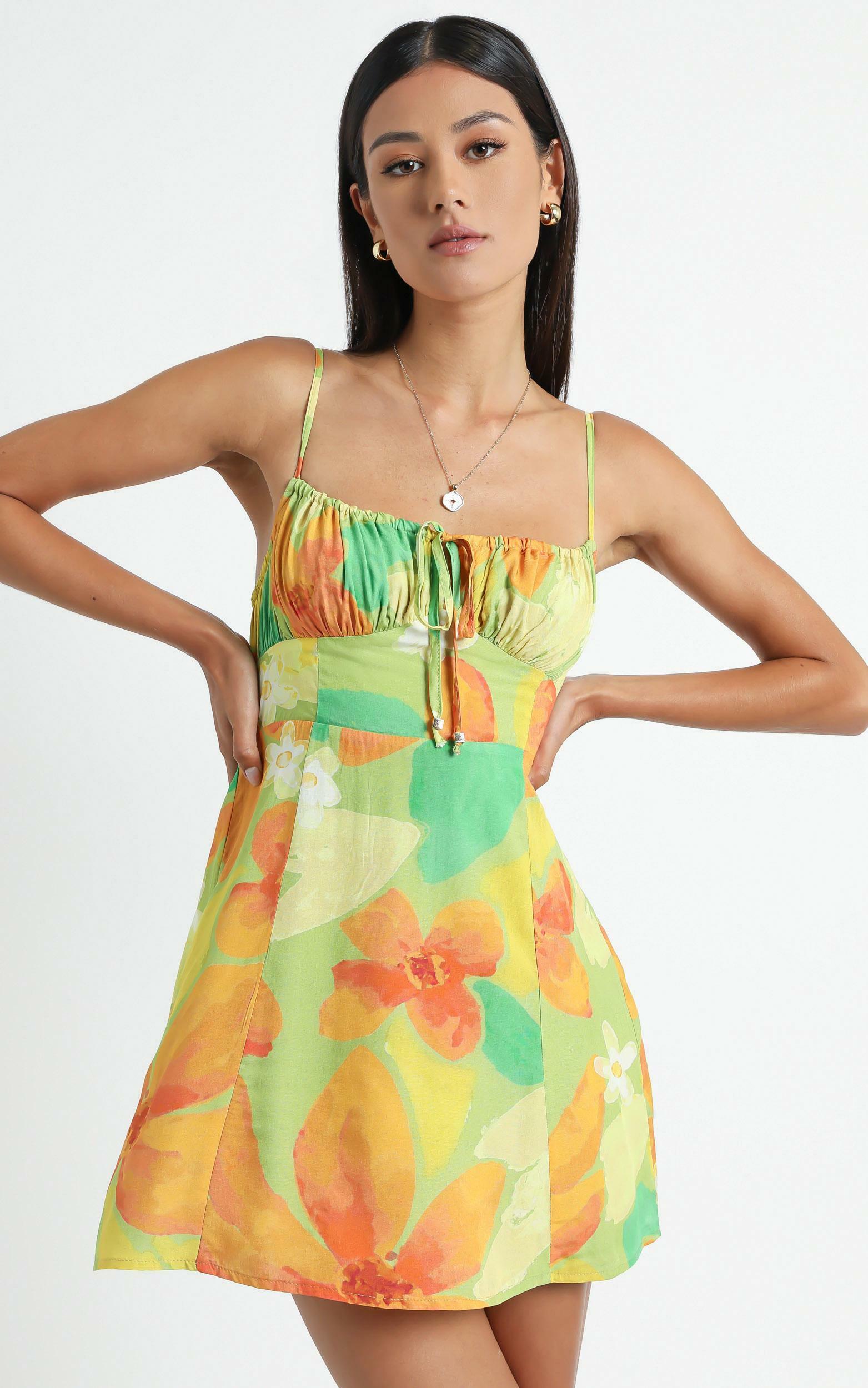 Barreta Dress in Tropical Floral - 6 (XS), MLT1, hi-res image number null