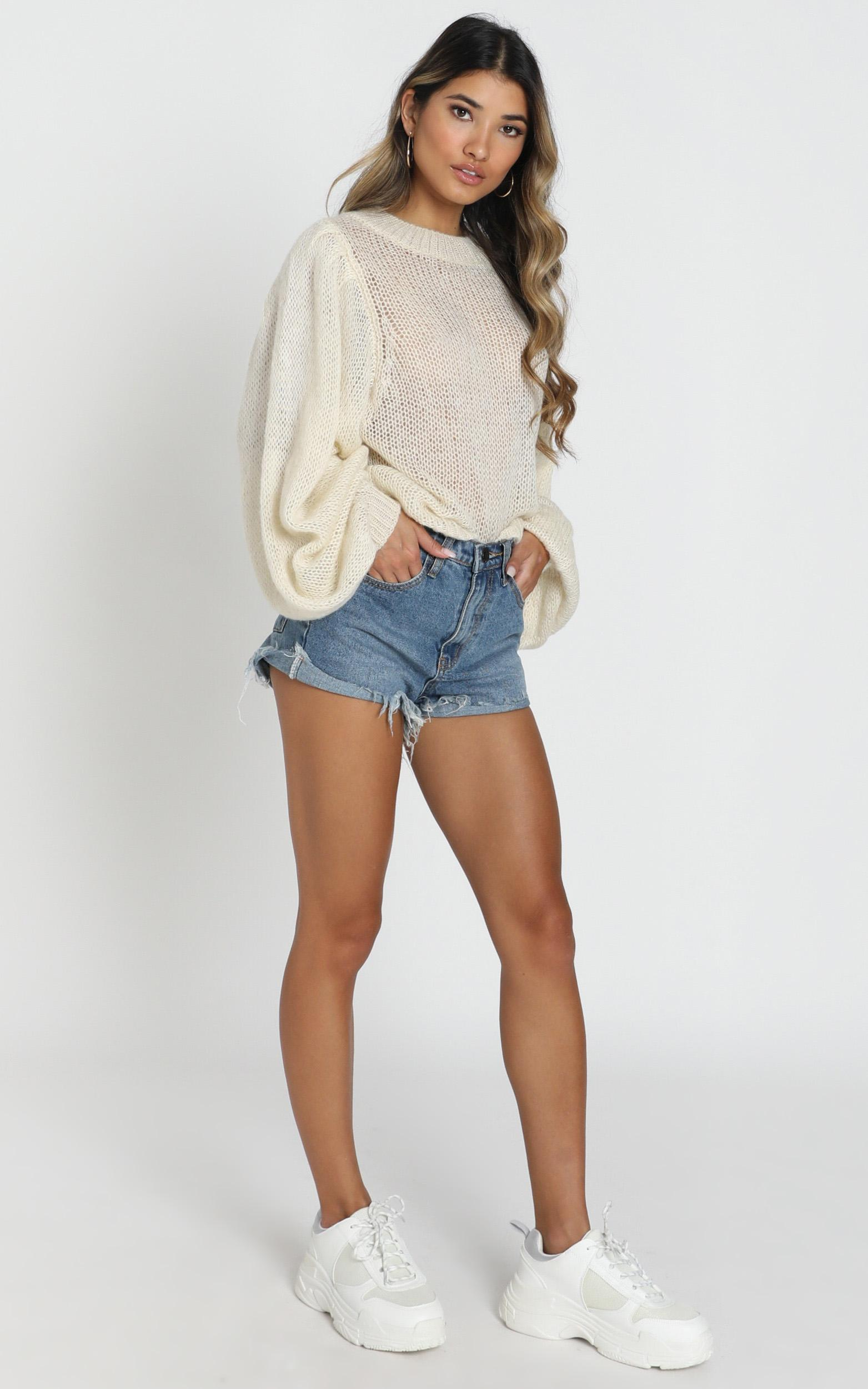 Correcting You Jumper in ivory - 14 (XL), Cream, hi-res image number null