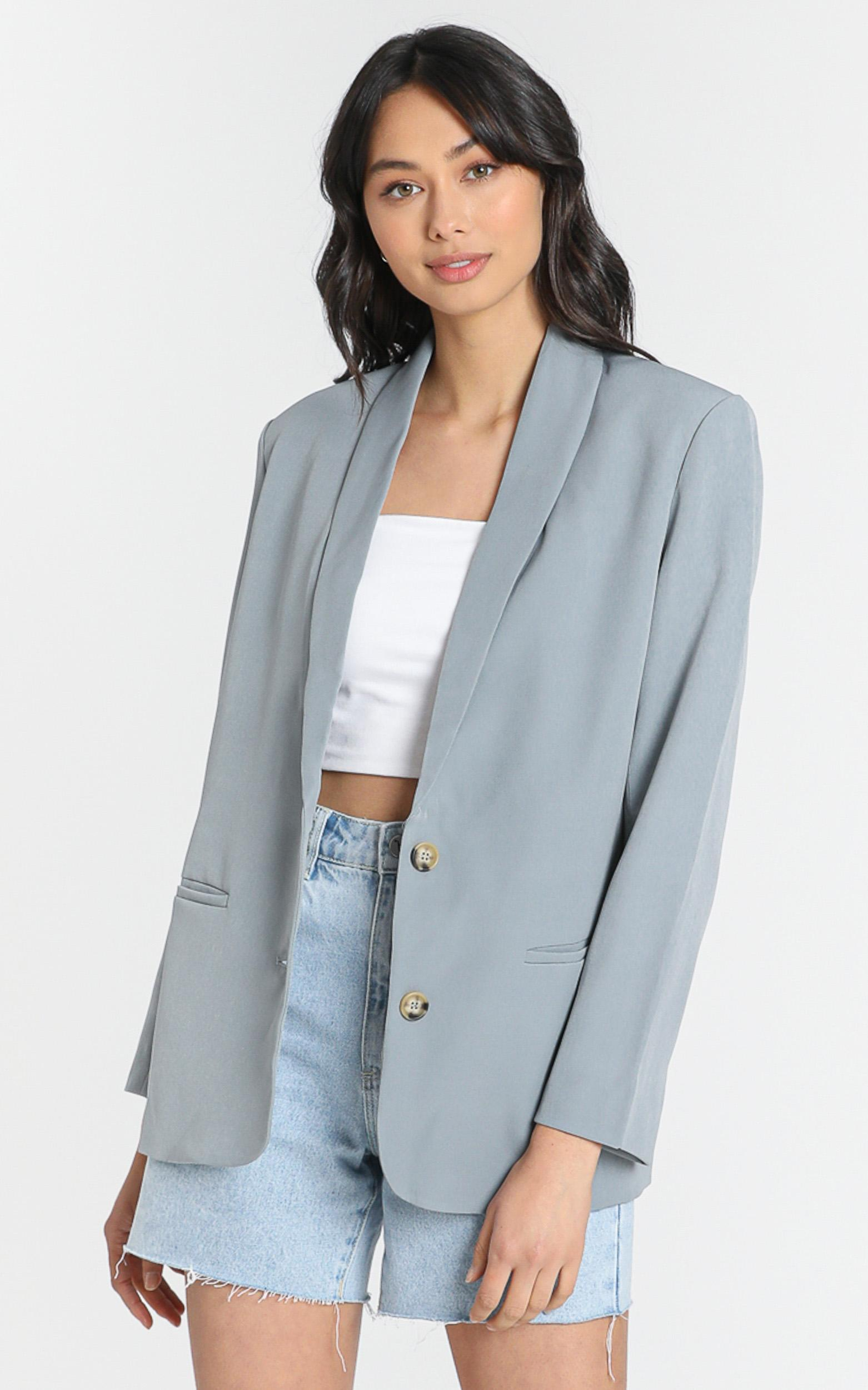Miss Universe Blazer in slate - 6 (XS), Grey, hi-res image number null