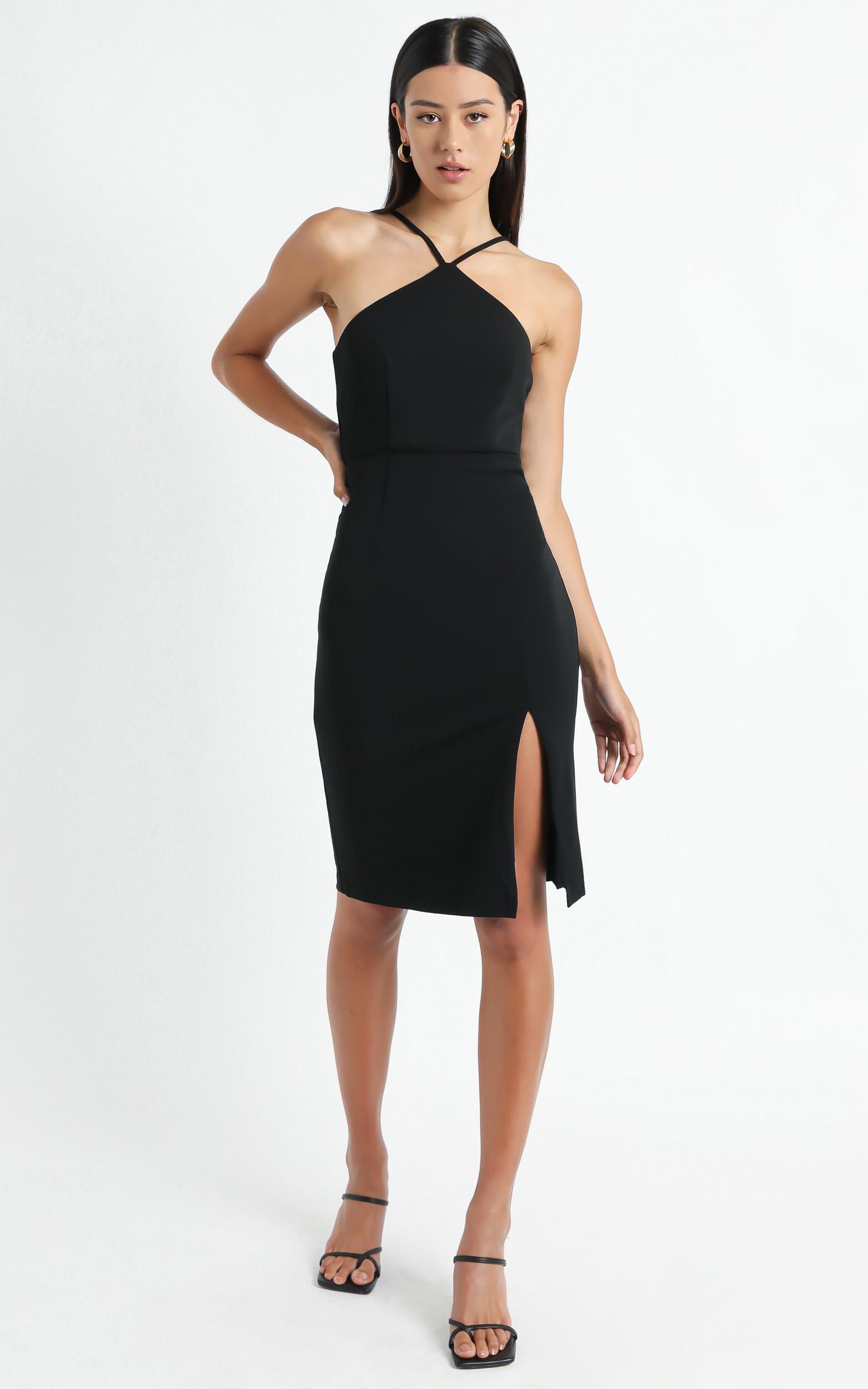 Missed The Point Dress In Black - 12 (L), Black, hi-res image number null