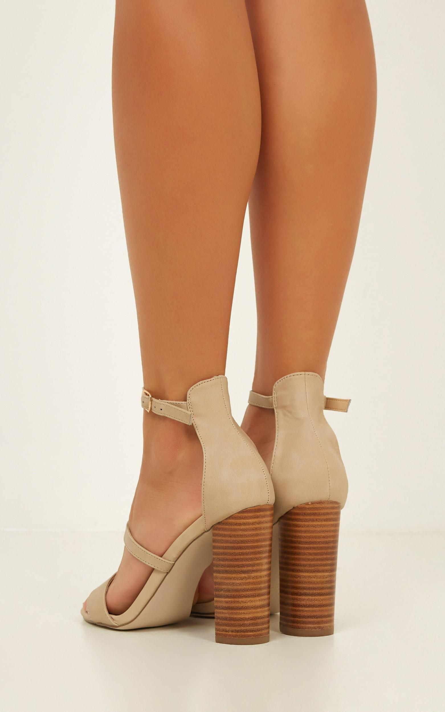 Verali - Bubba heels in natural, Beige, hi-res image number null