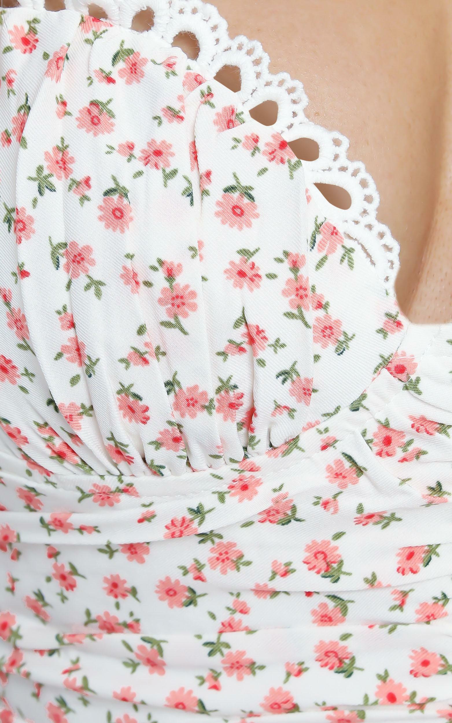 Savannah Dress in White Floral - 12 (L), White, hi-res image number null