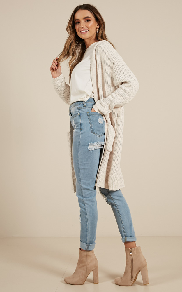 All I Need knit cardigan in cream - M/L, Cream, hi-res image number null