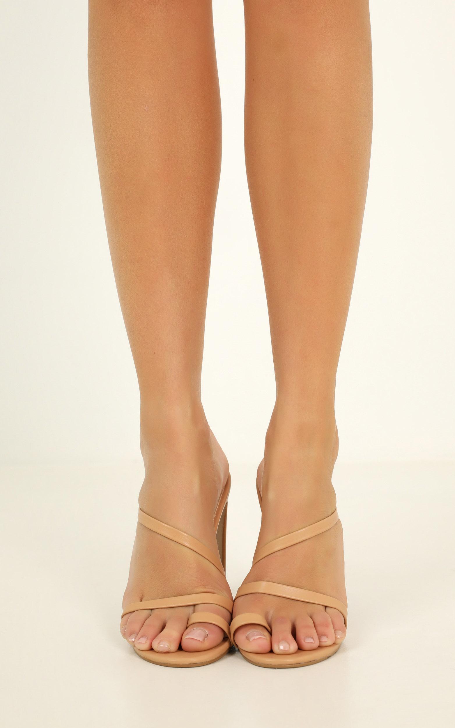 Billini - Douzten heels in dark nude - 10, Beige, hi-res image number null