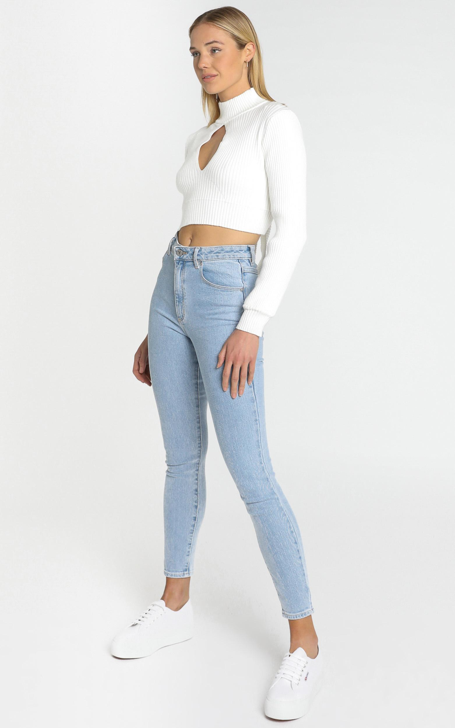 Alika Knit Top in White - 8 (S), White, hi-res image number null
