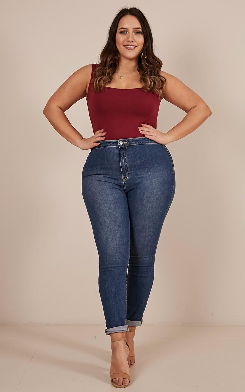 Sally skinny jeans in dark wash - 18 (XXXL), Blue, hi-res image number null