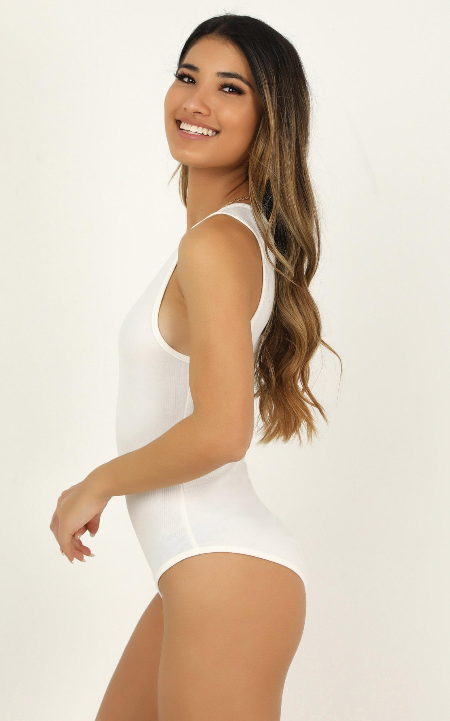 You Could See Bodysuit In white - 20 (XXXXL), White, hi-res image number null