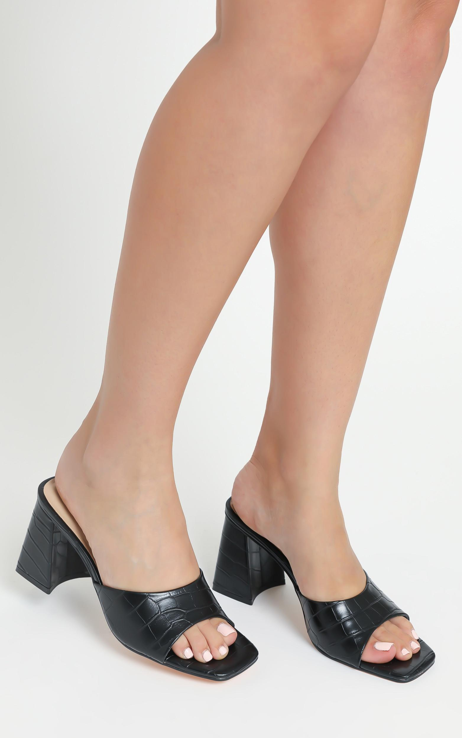 Therapy - Colina Heels in Black Croc - 05, BLK1, hi-res image number null