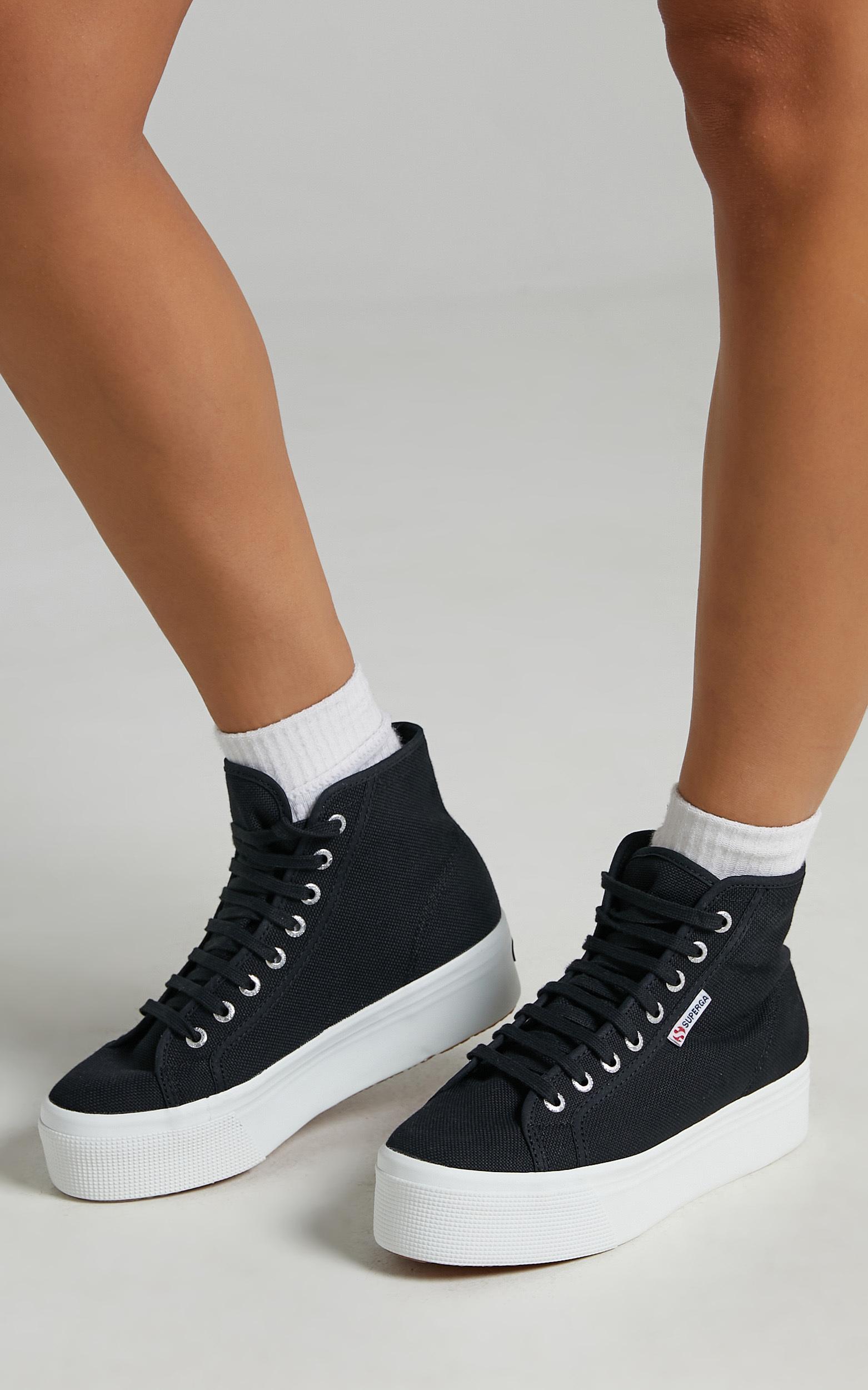 Superga - 2705 Hi Top Sneakers in F83 Black - 05, BLK1, hi-res image number null