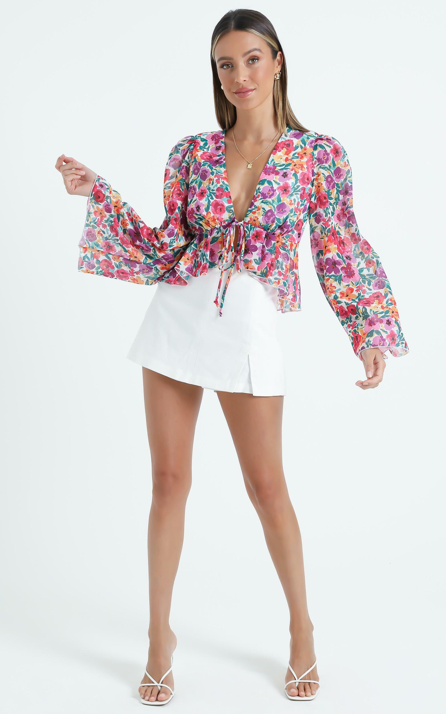 Dance It Out Top in Packed Floral - 06, MLT1, hi-res image number null