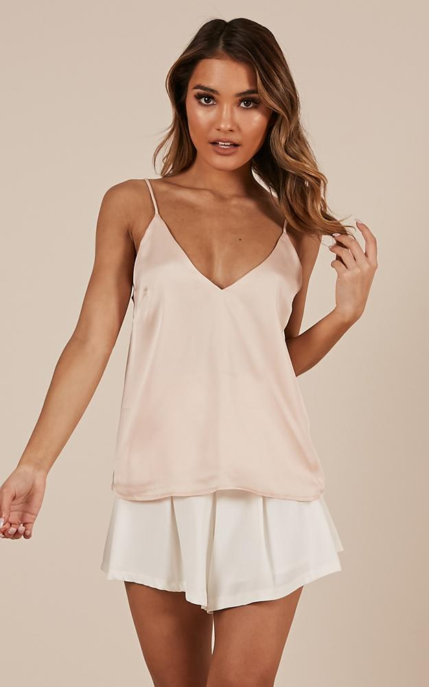 My Only Sunshine Top in champagne satin - 18 (XXXL), Beige, hi-res image number null