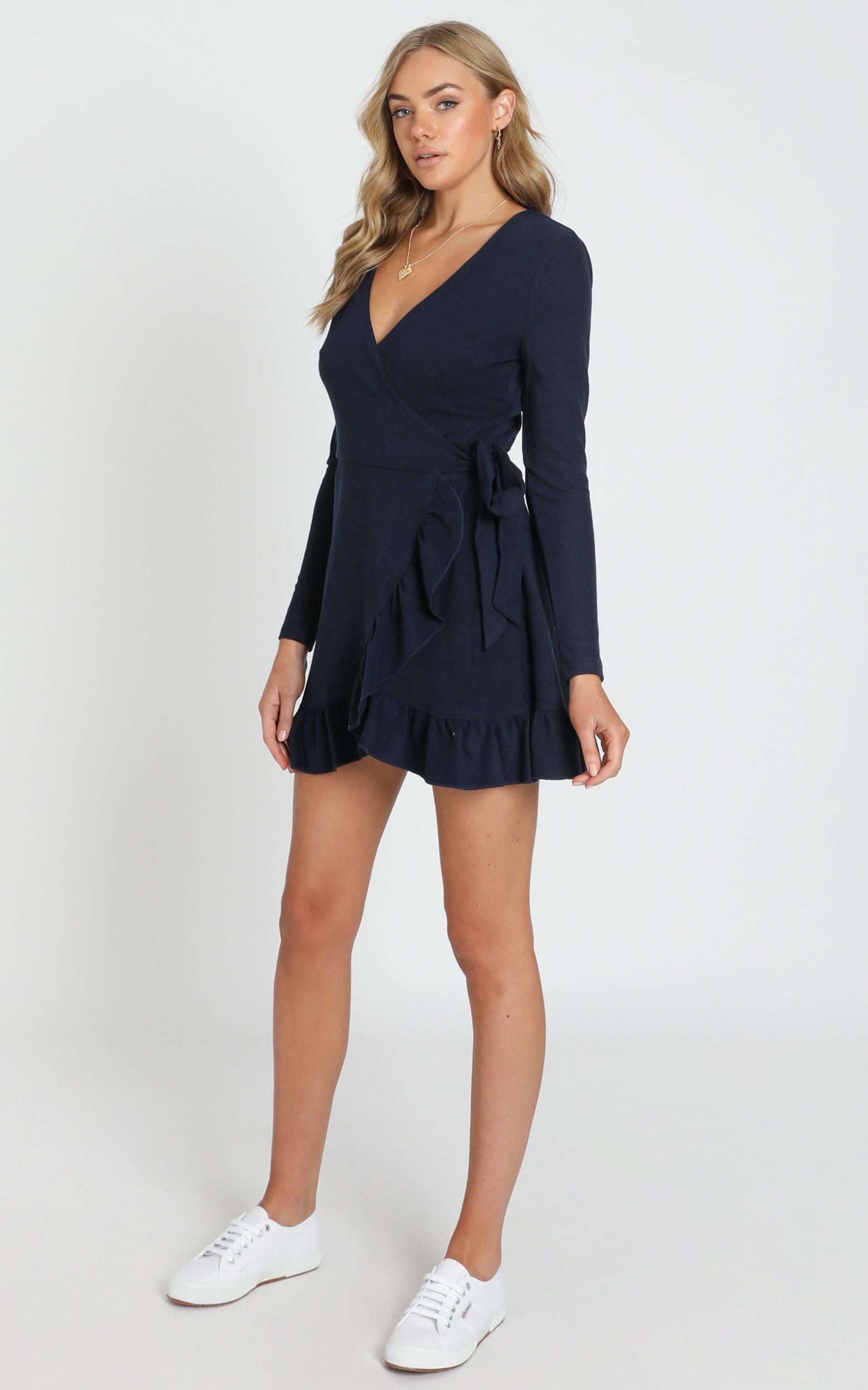 Eyes Talk Dress in navy - 20 (XXXXL), Navy, hi-res image number null
