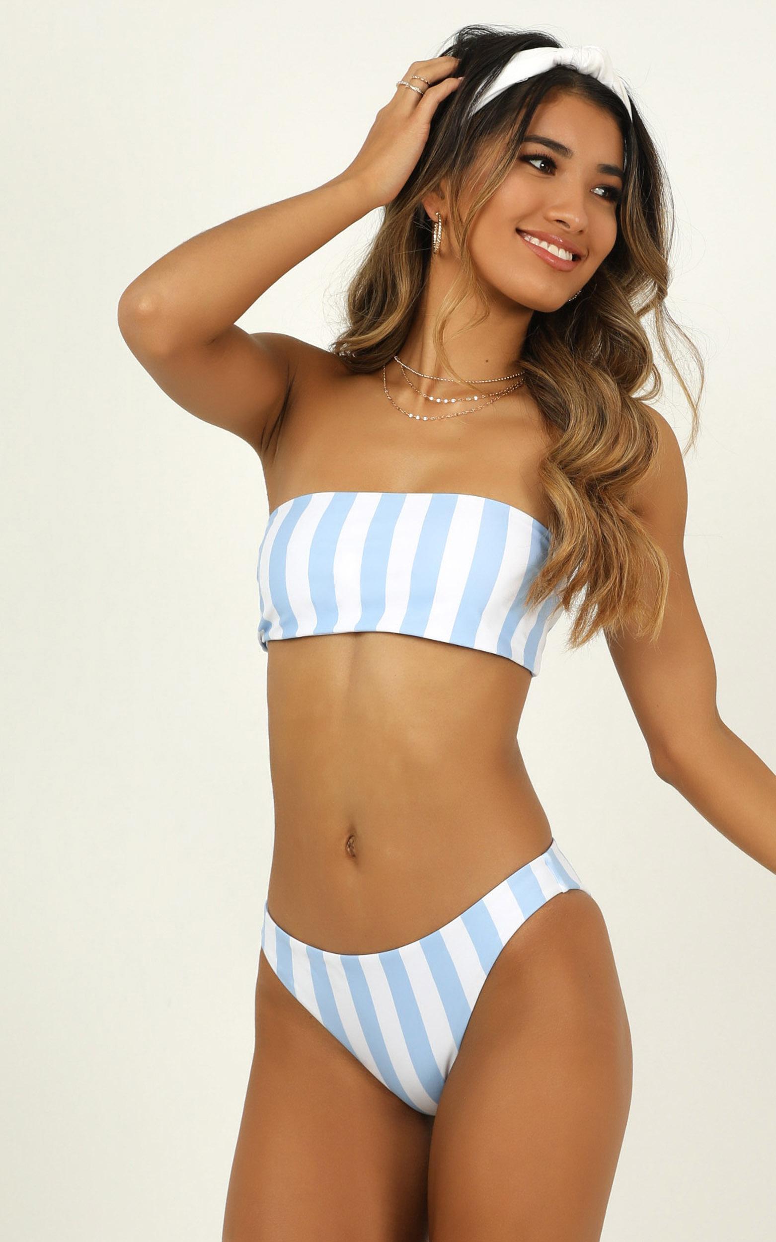 Lilah bikini bottoms in blue stripe - 20 (XXXXL), Blue, hi-res image number null