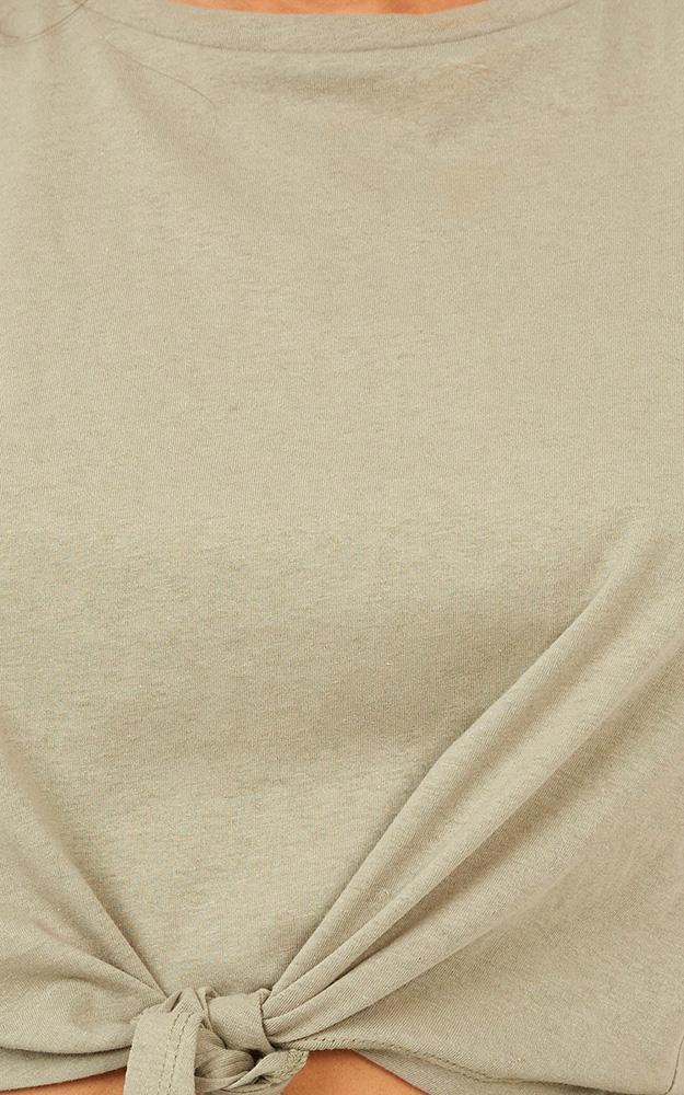 Save You top in khaki - 12 (L), Khaki, hi-res image number null