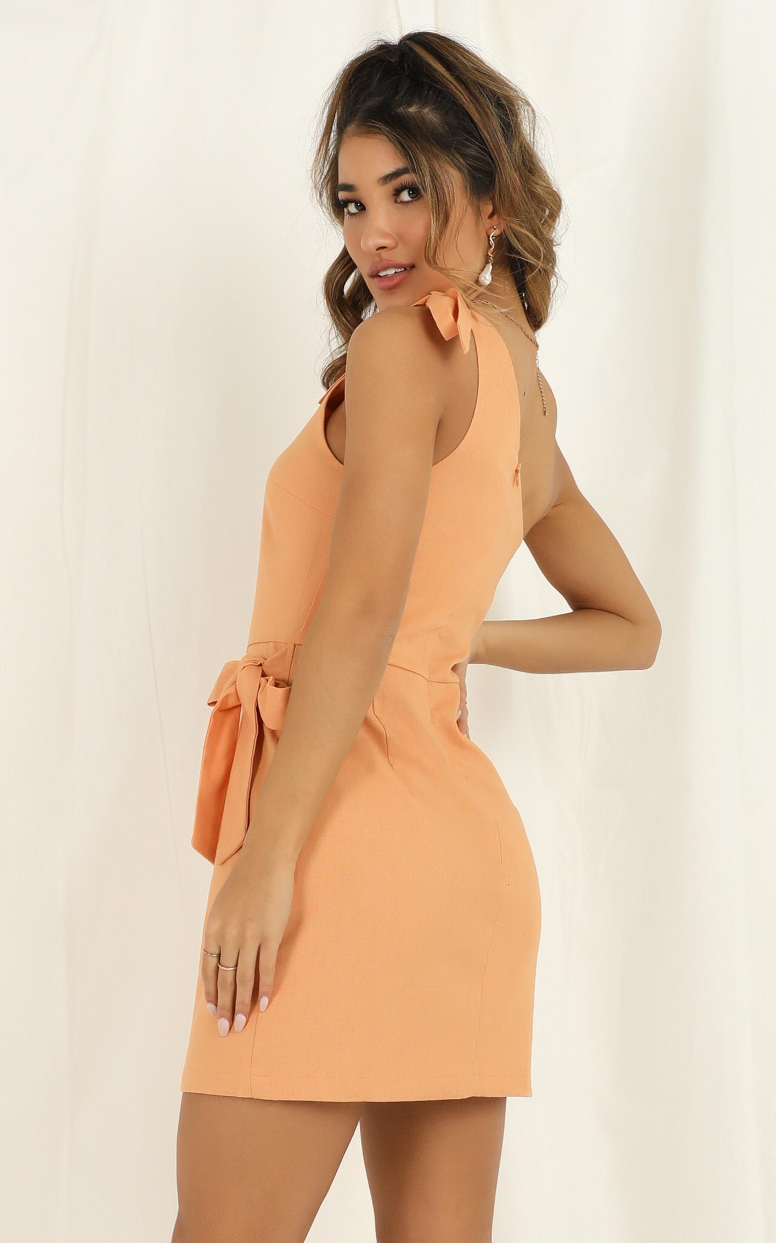 Keeping It Together dress in sherbet linen look - 20 (XXXXL), Orange, hi-res image number null