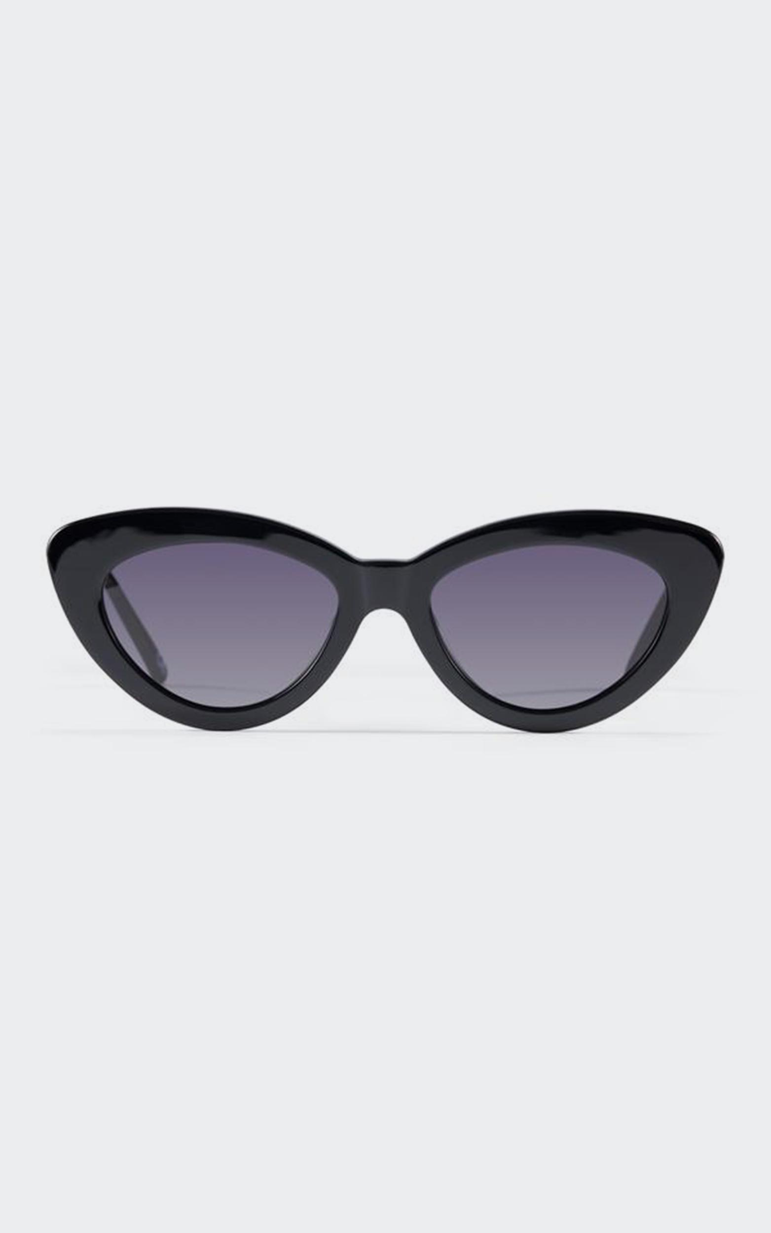 Luv Lou - The Harley Sunglasses in Jet Black, , hi-res image number null