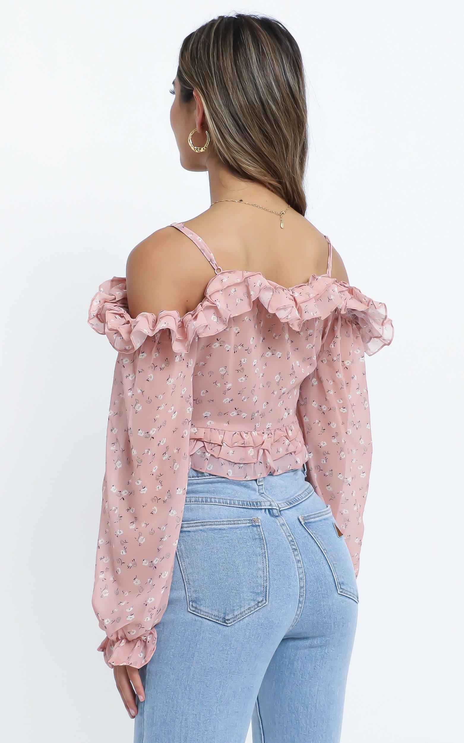 Ayala Top in Pink Floral - 14 (XL), Pink, hi-res image number null