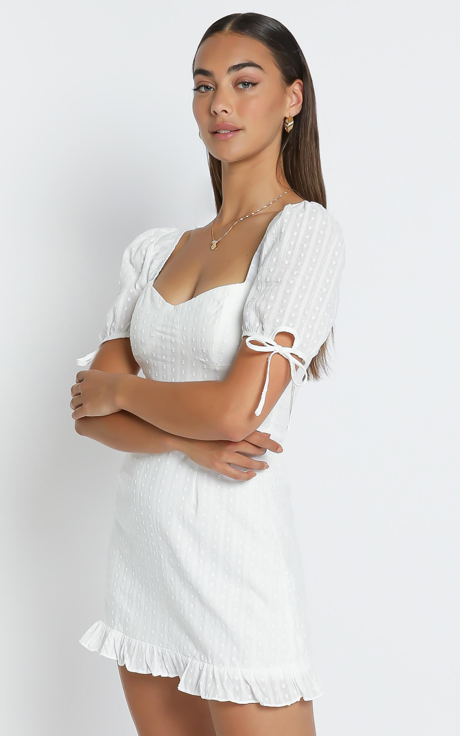 Shelly Dress in White - 6 (XS), White, hi-res image number null