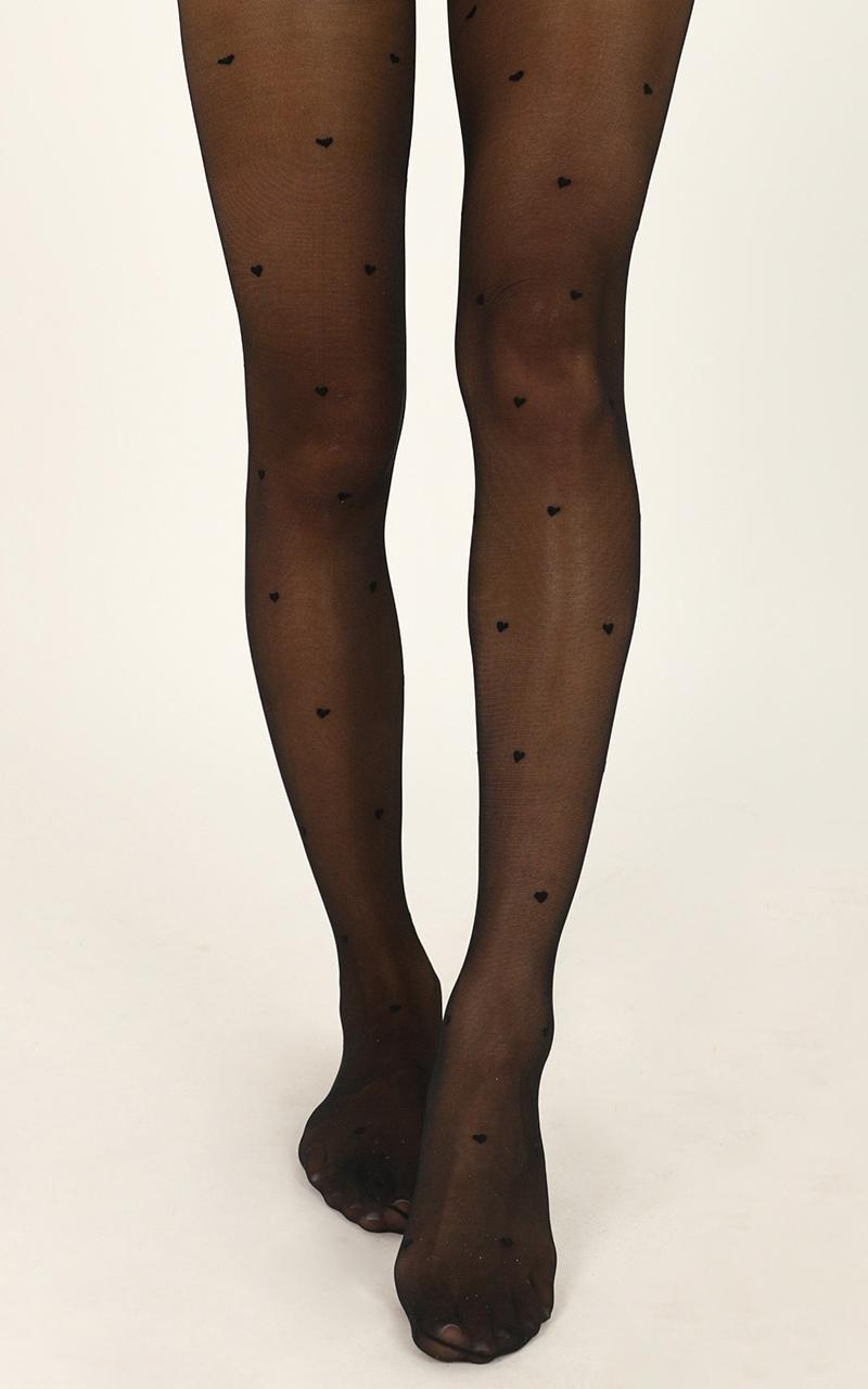 Deal With It Stockings In Black Print, , hi-res image number null