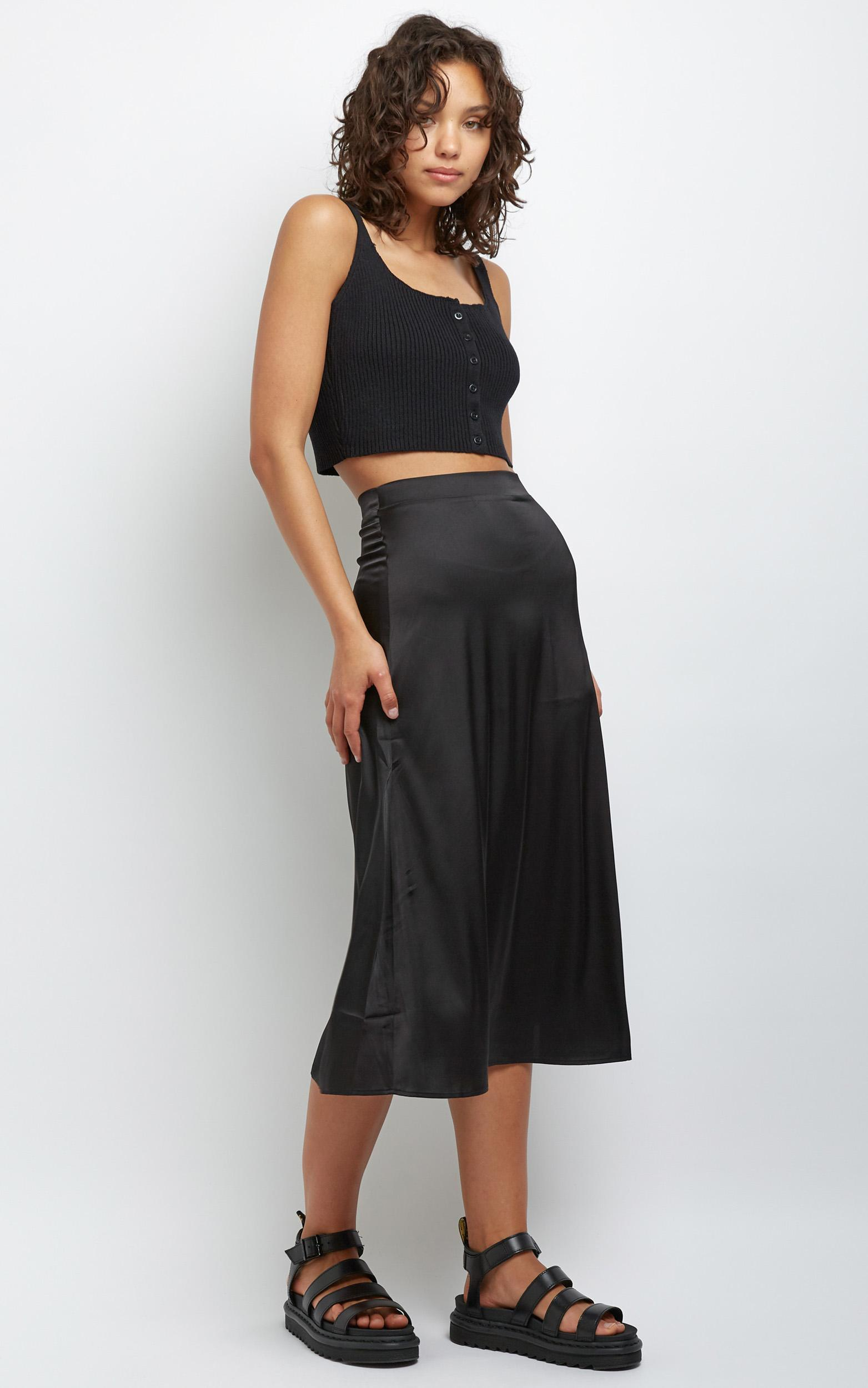 Amrita Midi Skirt in Black - 12 (L), Black, hi-res image number null