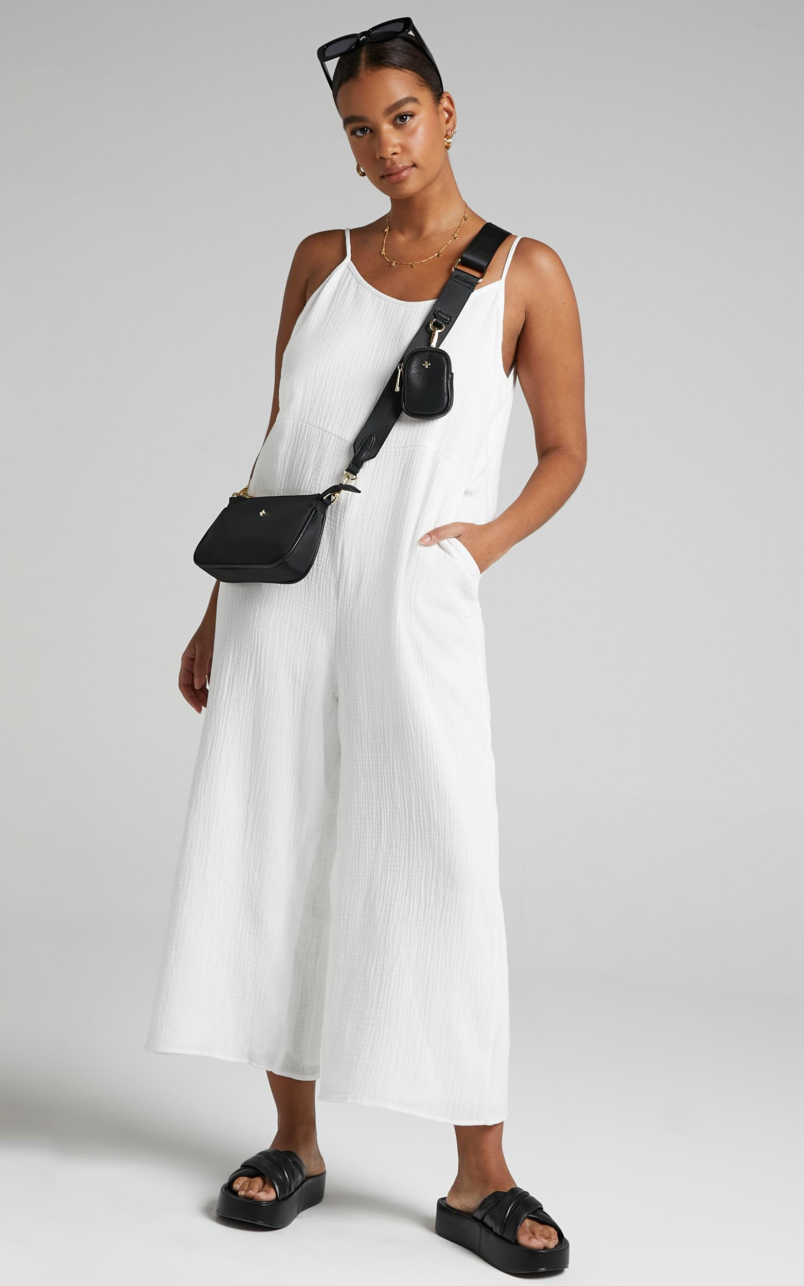 Perfect Day Jumpsuit in White - 6 (XS), White, hi-res image number null