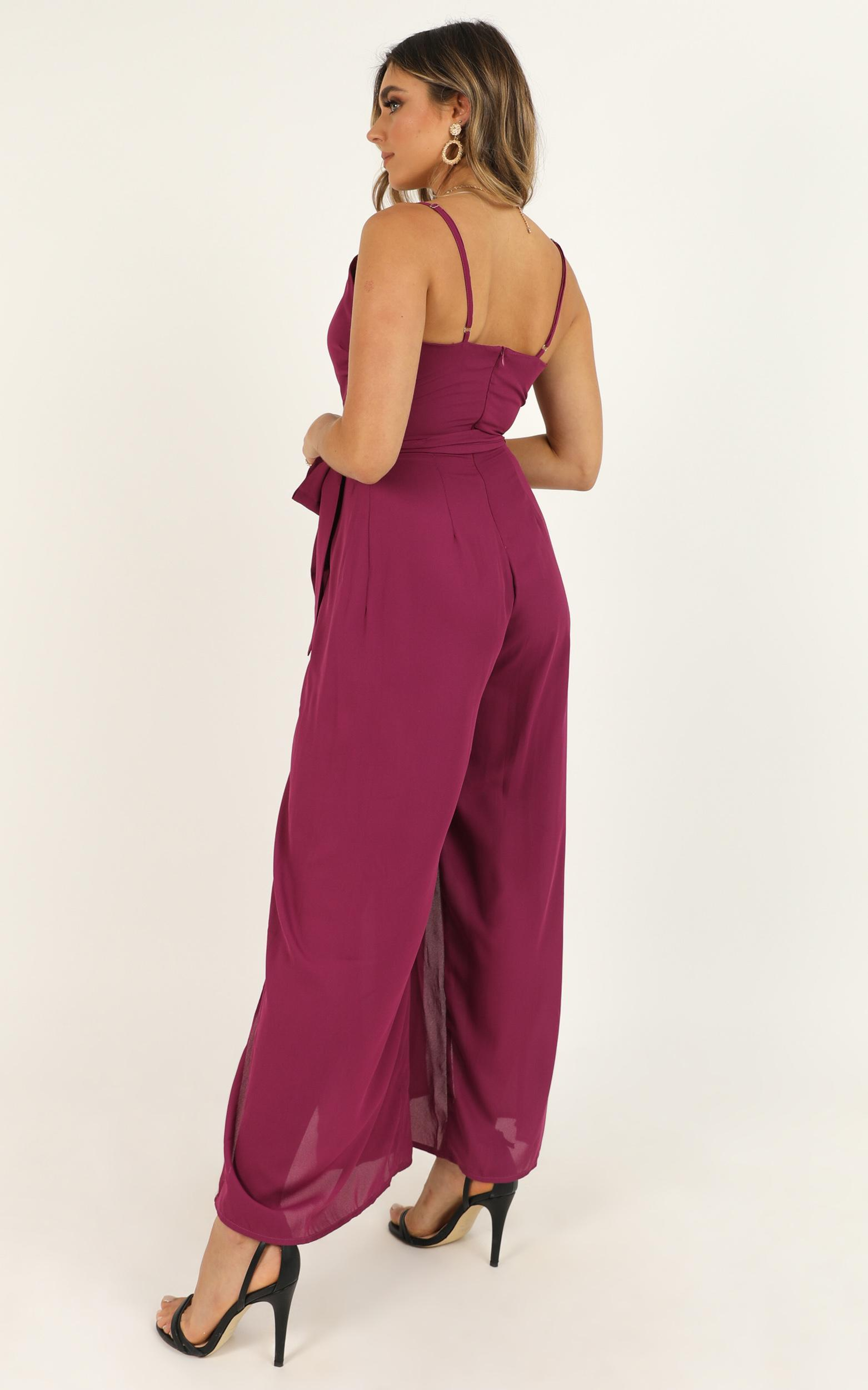 Never Love Me Jumpsuit In berry - 14 (XL), Pink, hi-res image number null