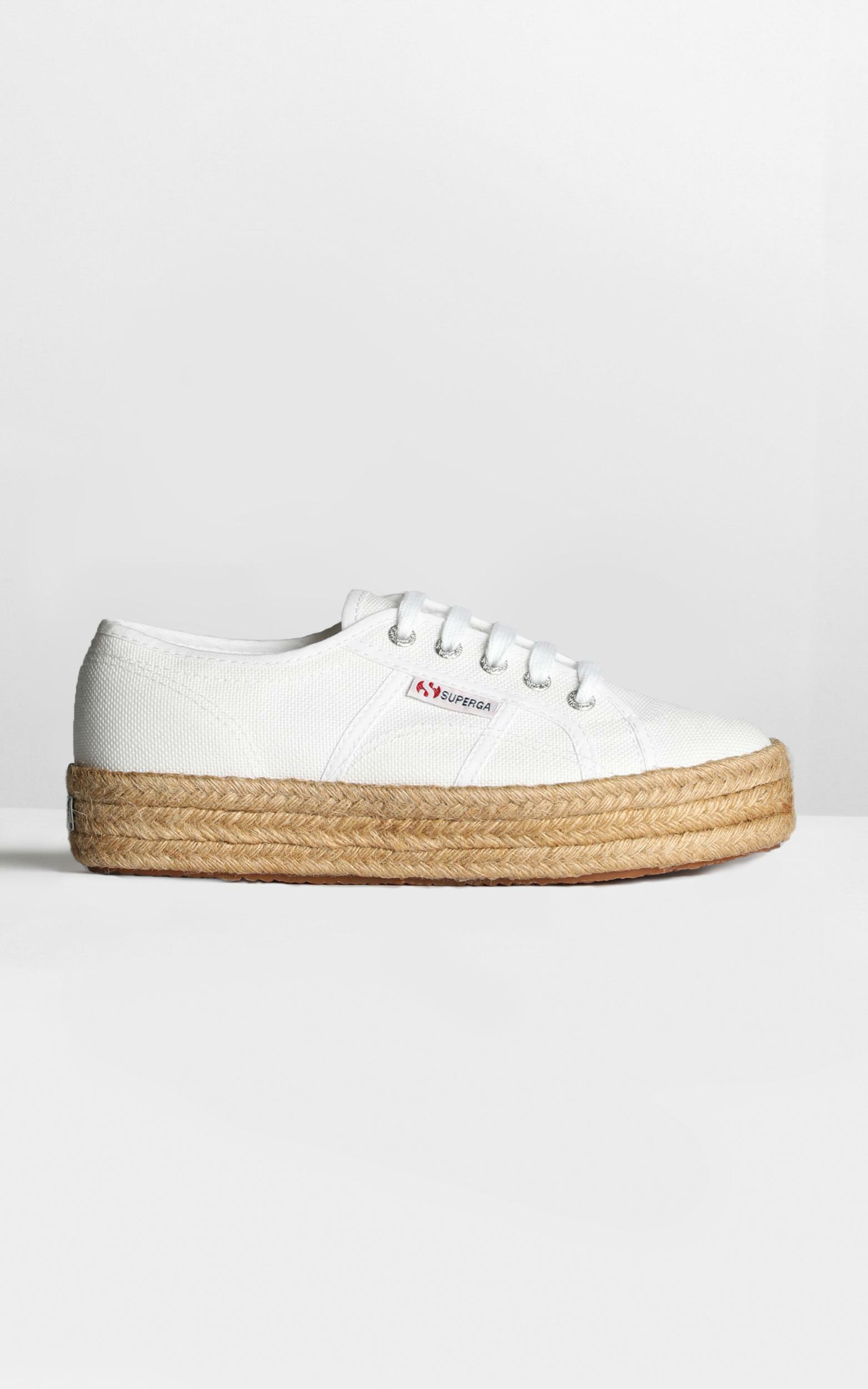 Superga - 2730 Cotropew  Sneakers in white canvas - 6.5, WHT2, hi-res image number null