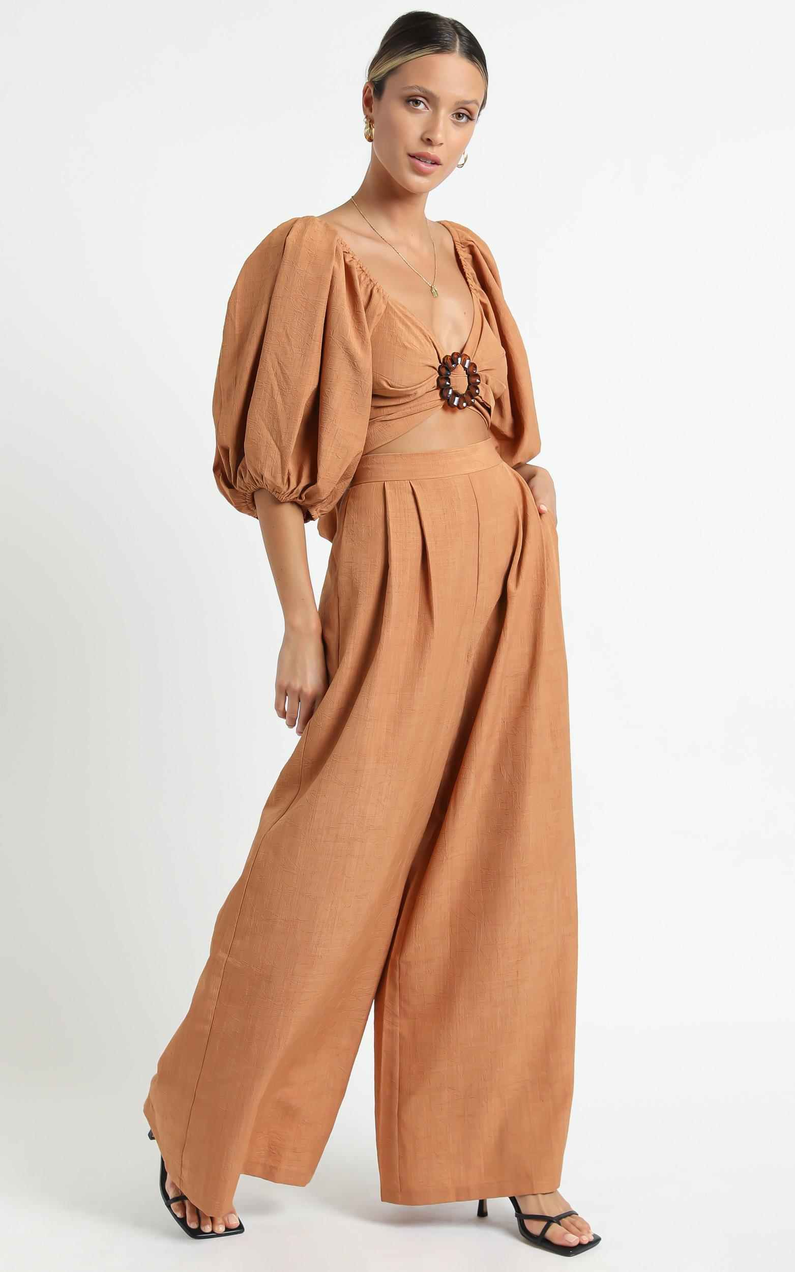 Minkpink - Shaila Wrap Top in Rust - XS, Rust, hi-res image number null
