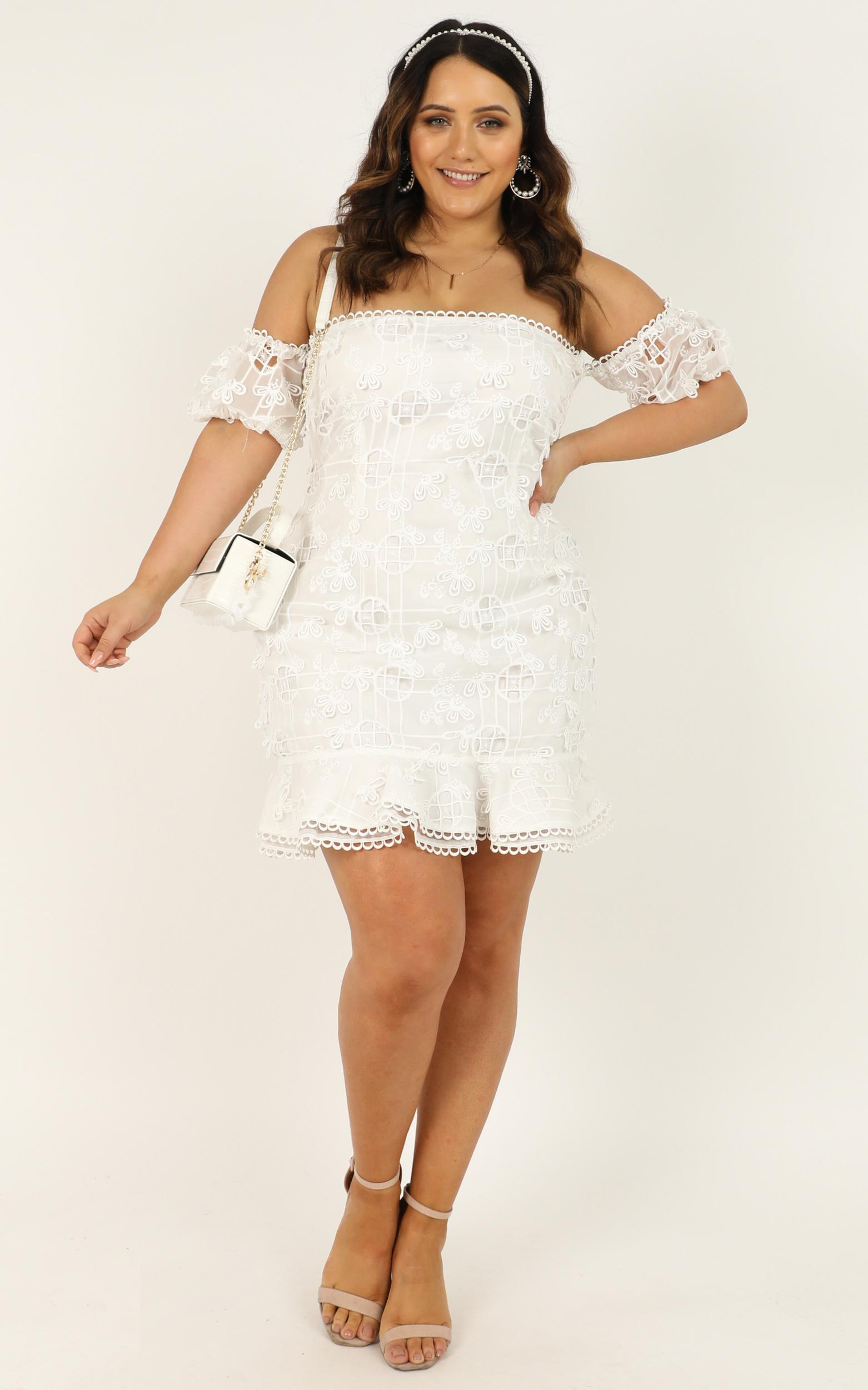There Is A Light That Never Goes Out Dress in white - 20 (XXXXL), White, hi-res image number null
