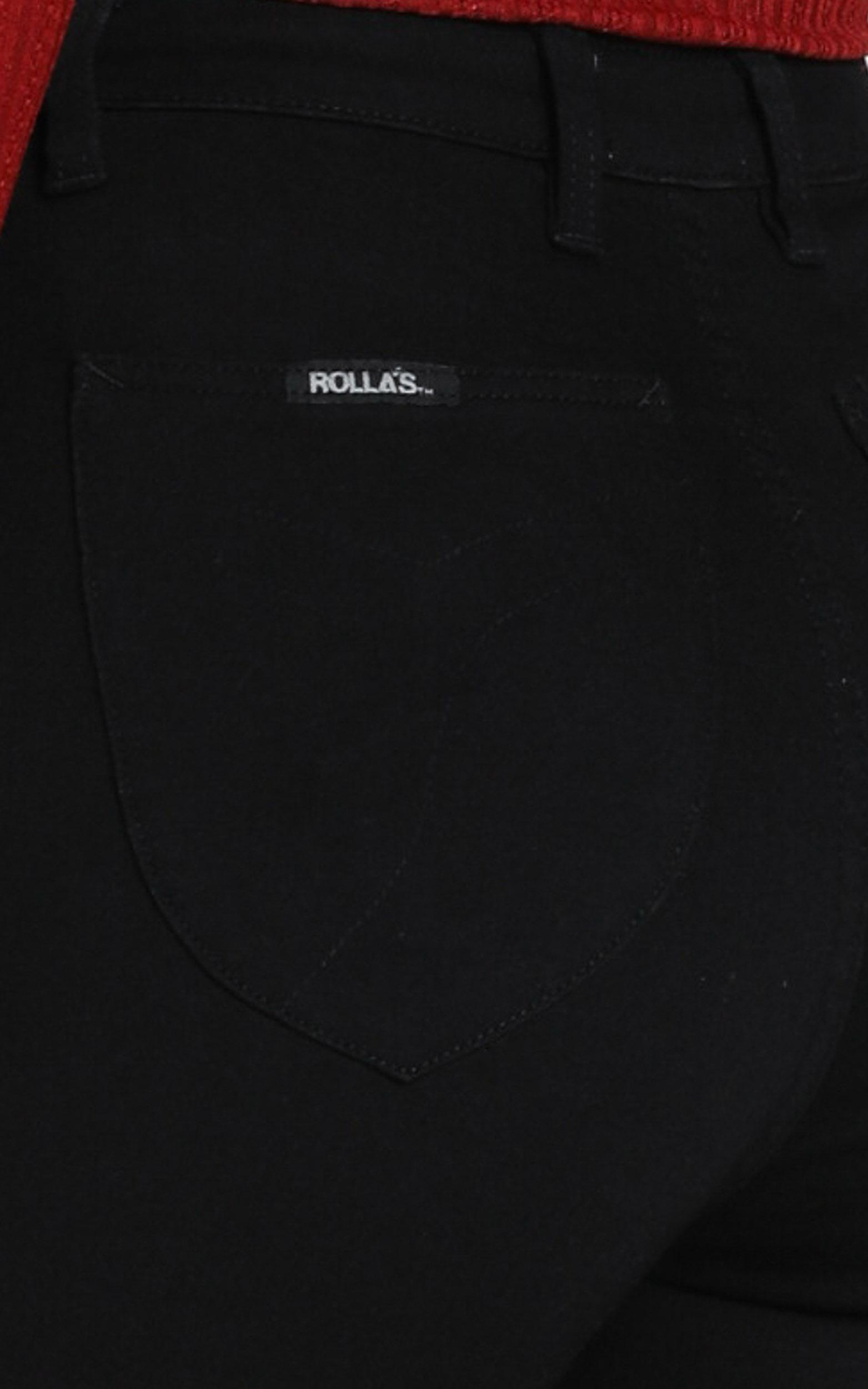 Rollas - Eastcoast Ankle High Rise Jean in galaxy black - 14 (XL), Black, hi-res image number null
